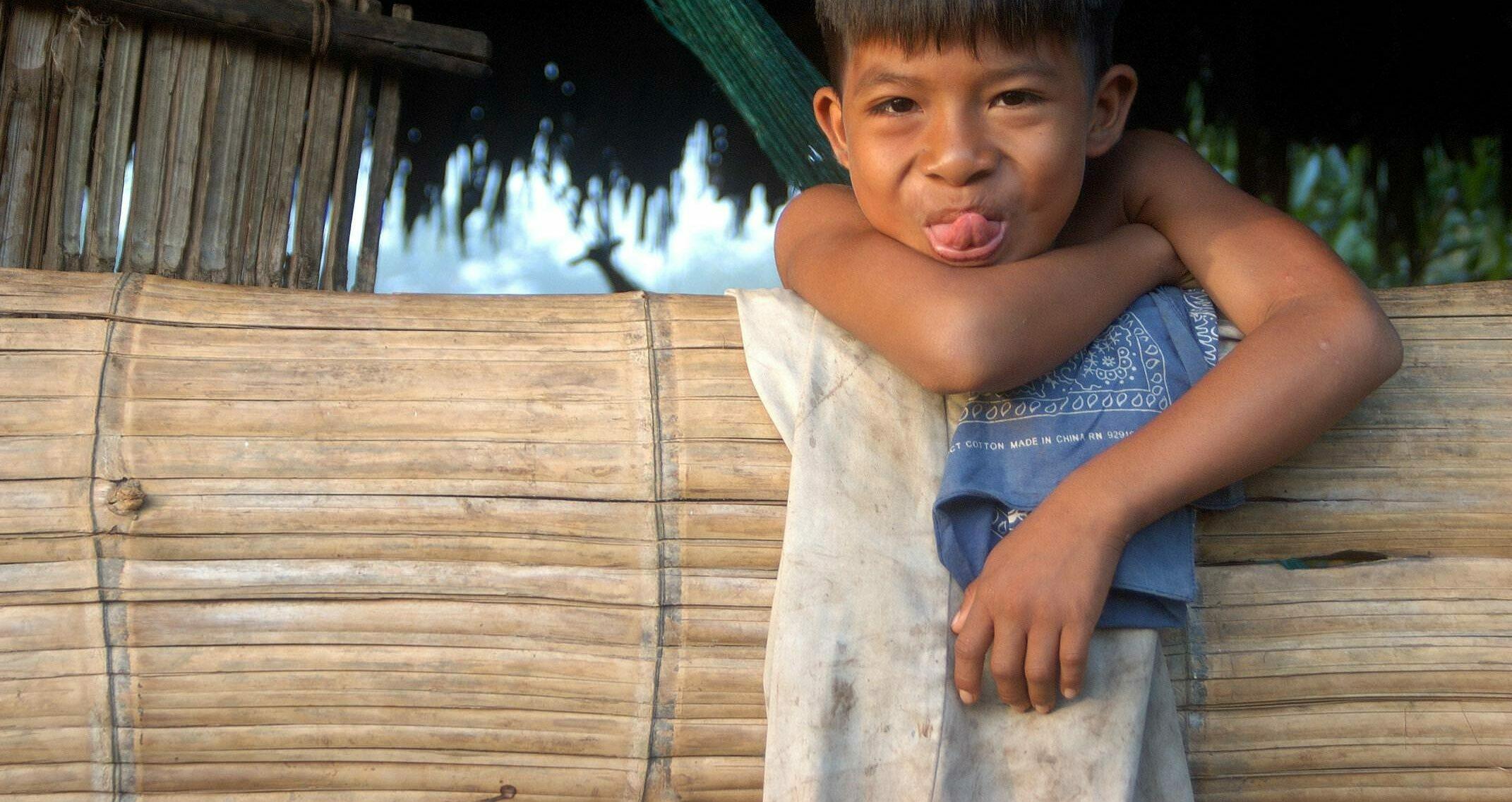 Ecuador amazon huaorani ecolodge senderos cheeky boy