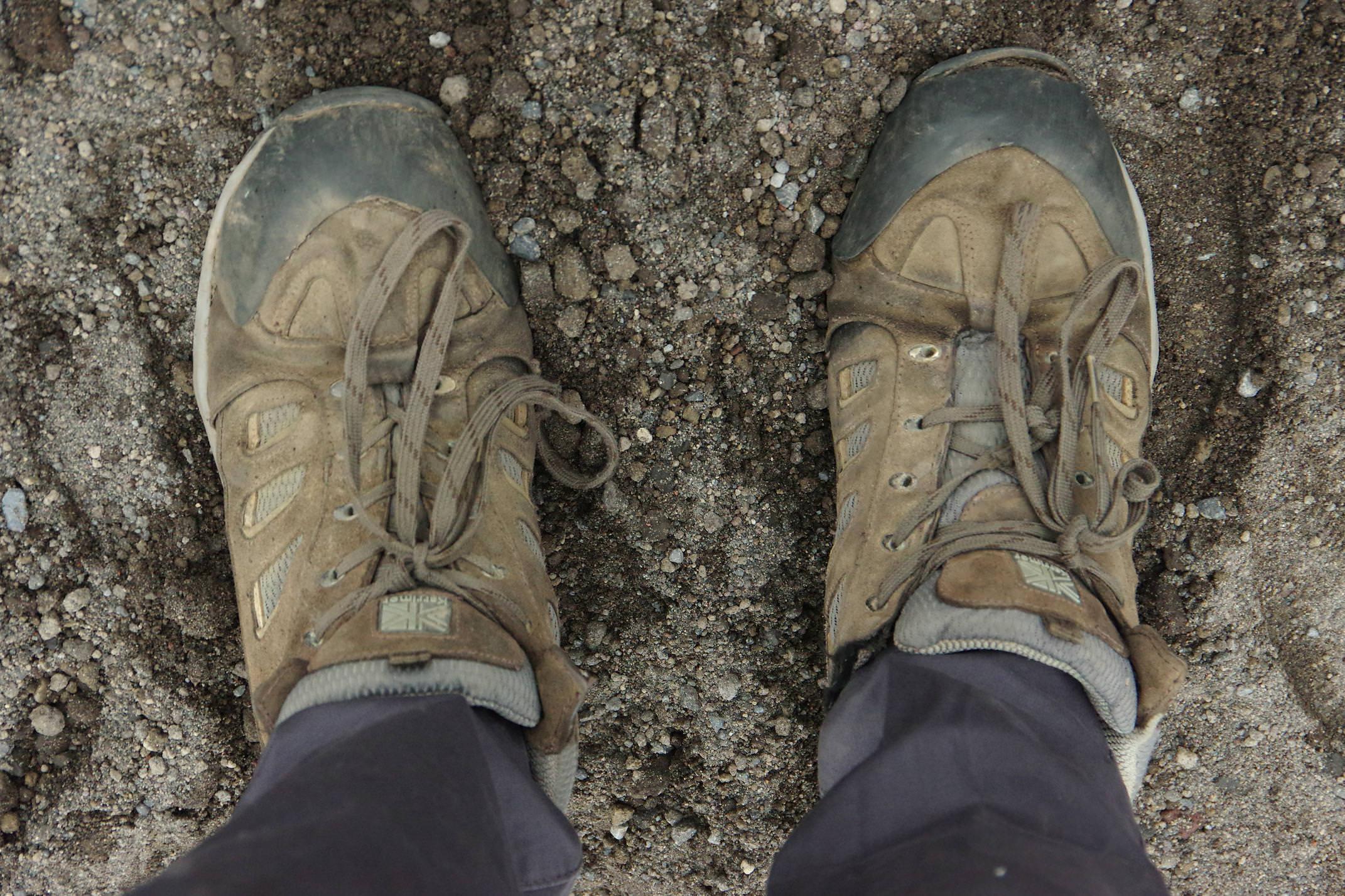 Ecuador cotopaxi walking boots hike refugio chris bladon