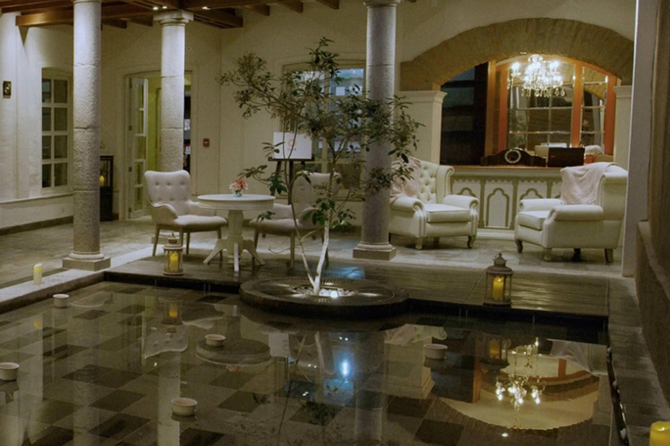 Ecuador quito illa experience hotel lobby area