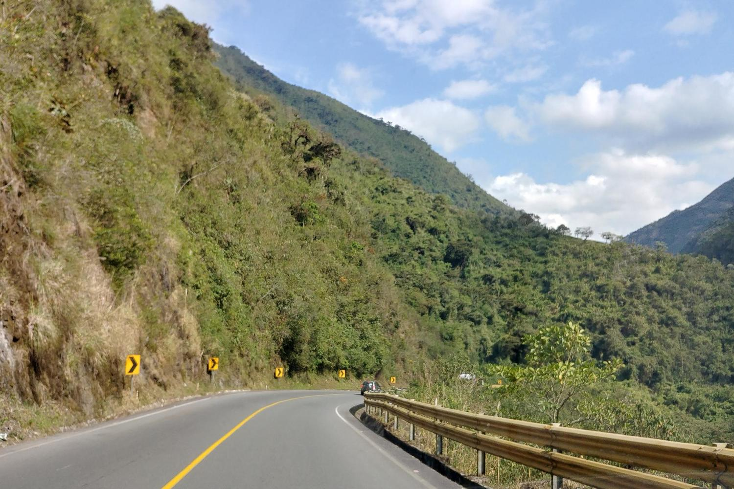 Driving through montane cloud forest to Mindo