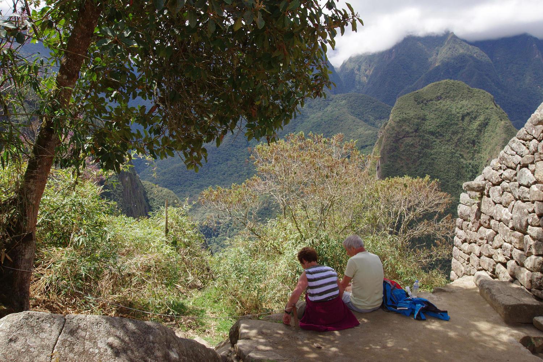 Finding a quiet spot at Machu Picchu