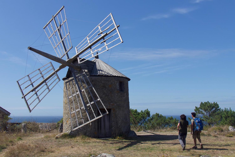 Windmills at the Atlantic coast near Viana
