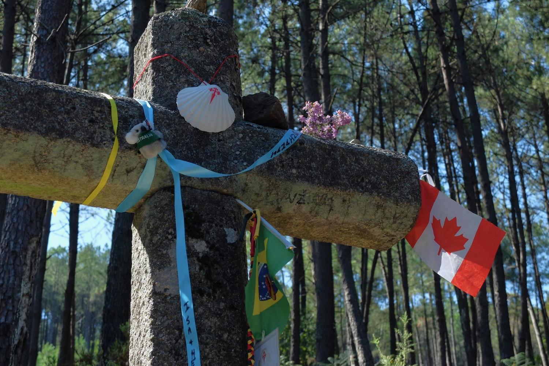 Cross along the Caminho de Santiago in northern Portugal