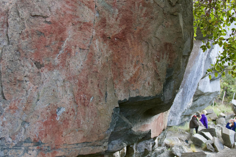 Ancient Tehuelche Cave Paintings