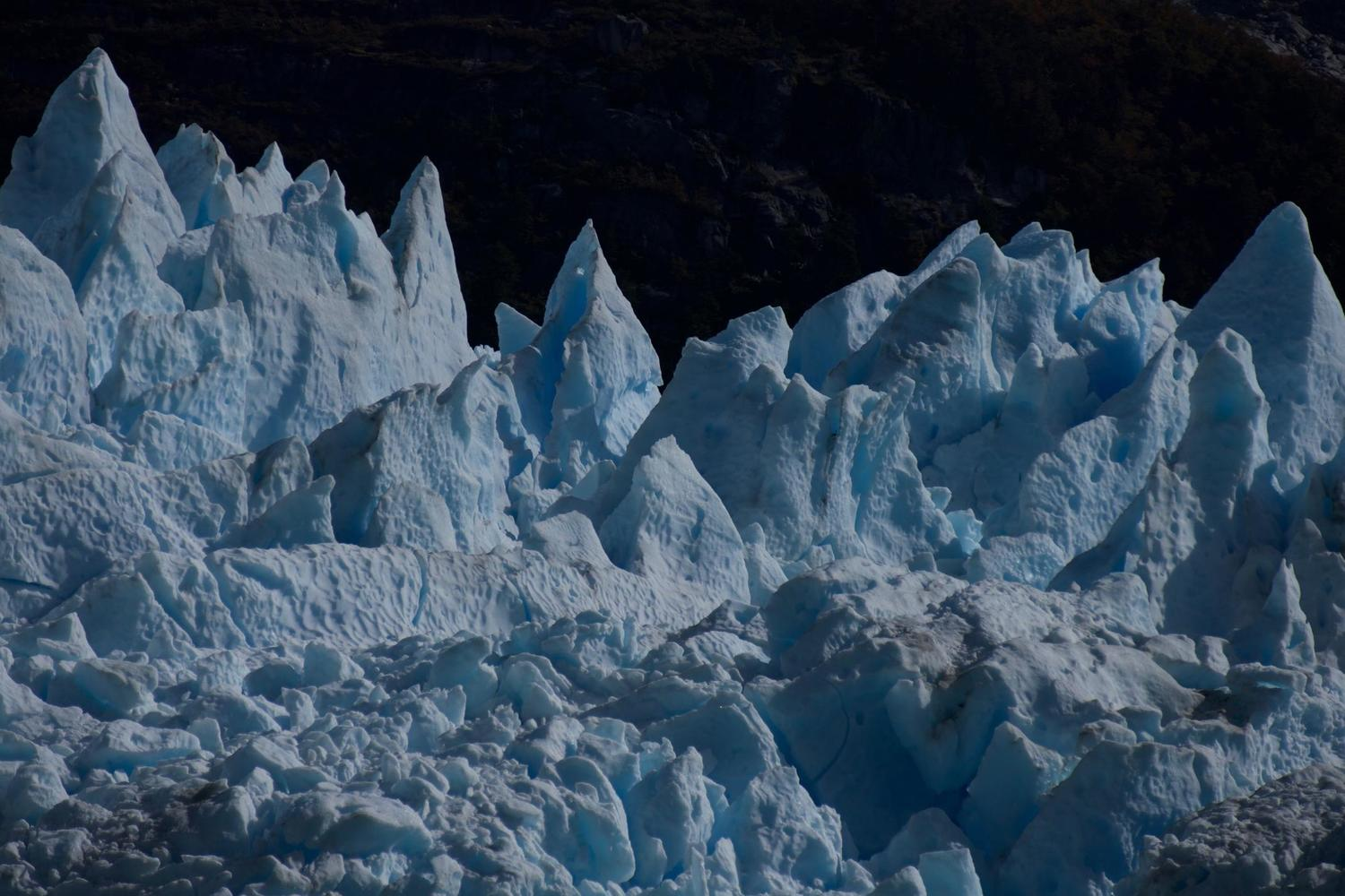 The jagged tips of the Leones Glacier in the Northern Ice Field