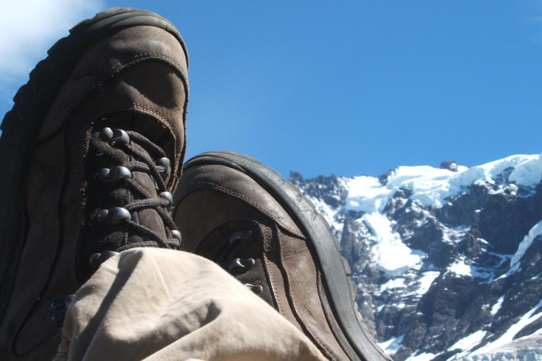 Hiker in Torres del Paine