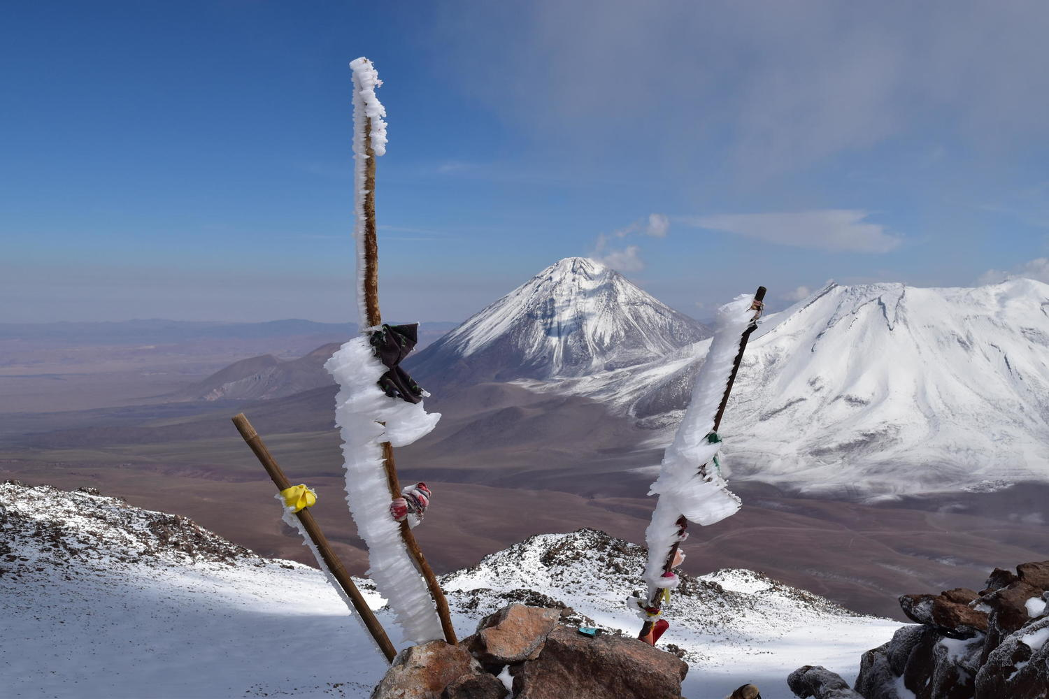 Summiting Chile's Toco Volcano and peering into Bolivia