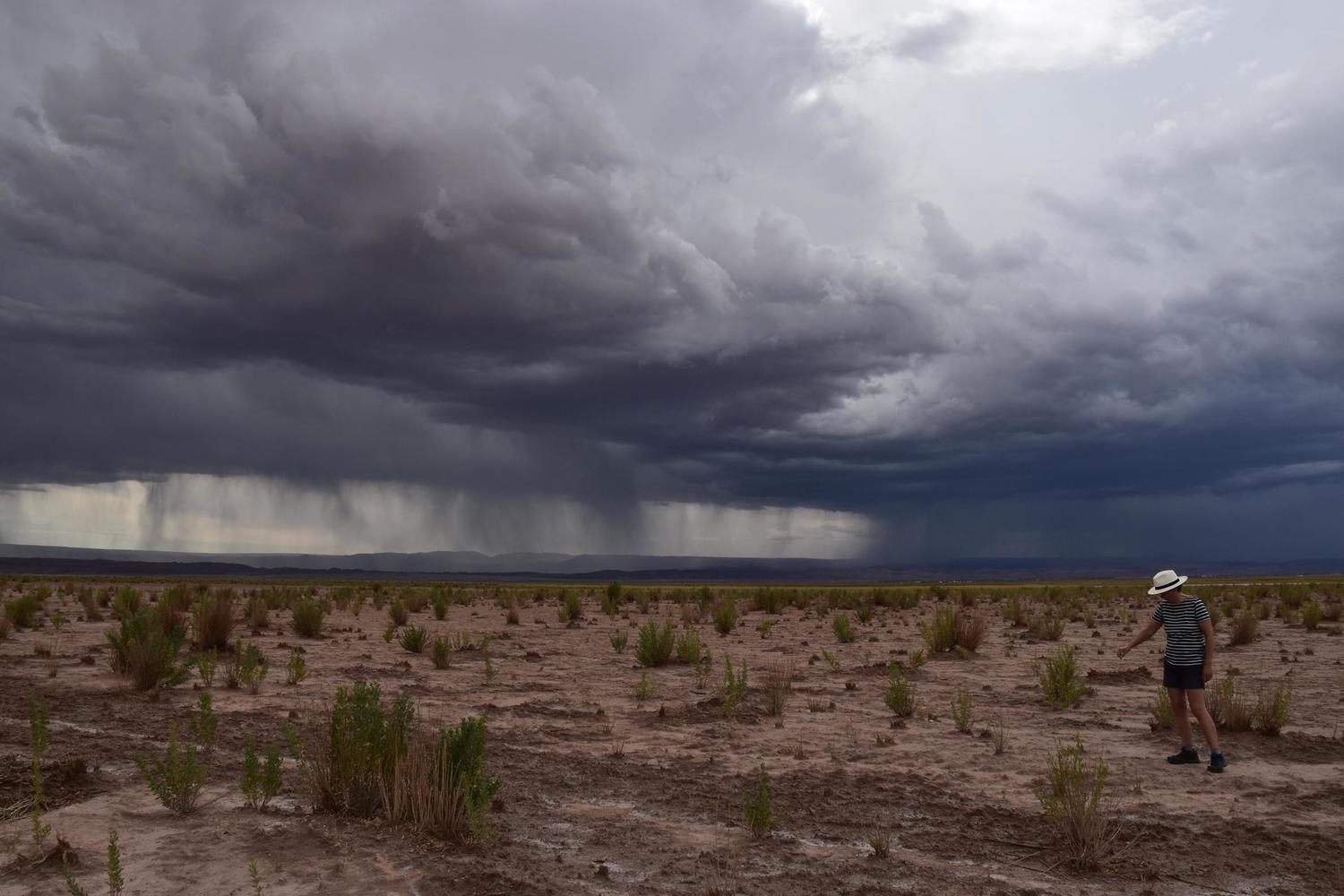Rare thunderstorms darken the skies above the Atacama