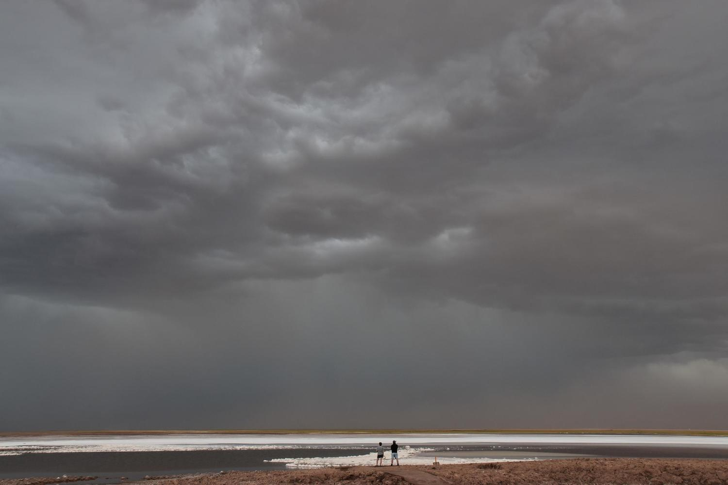 An approaching storm in the driest non-polar desert in the world - Chile's Atacama