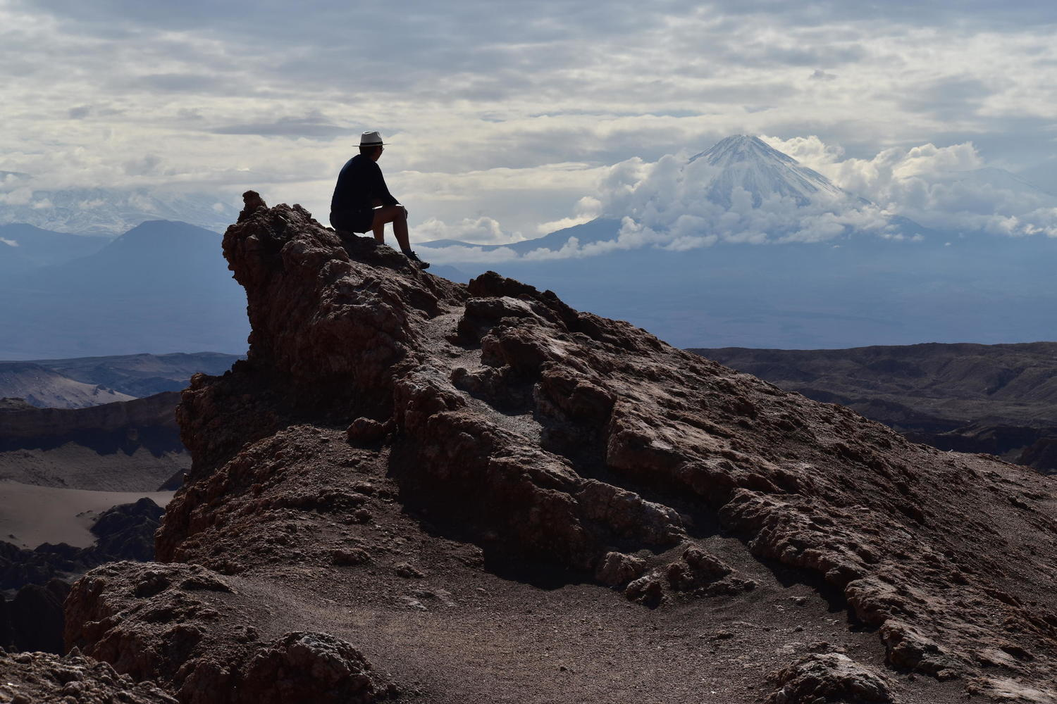Looking across to Licancabur in Chile's Atacama