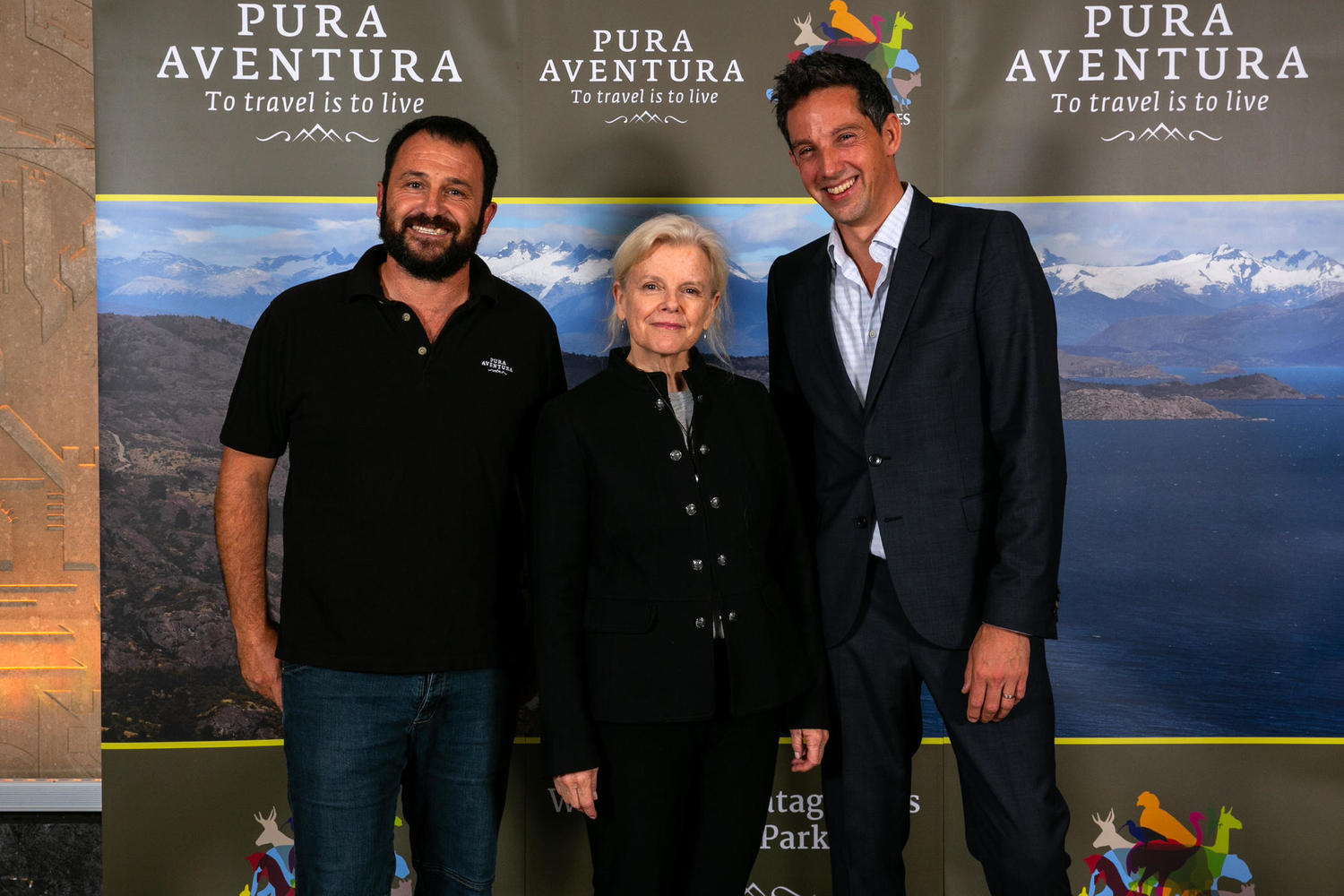 Diego and Thomas with Kristine Tompkins