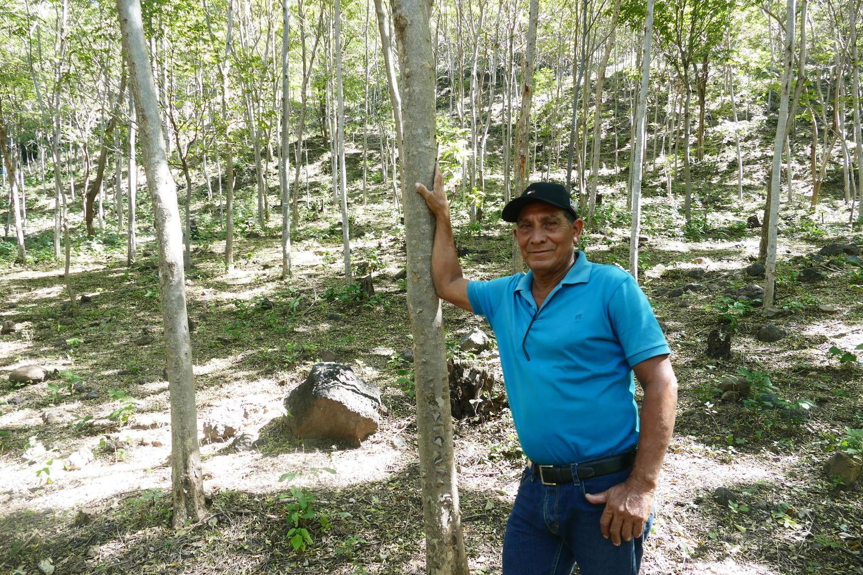Visiting Narciso Valdivia's farm in December