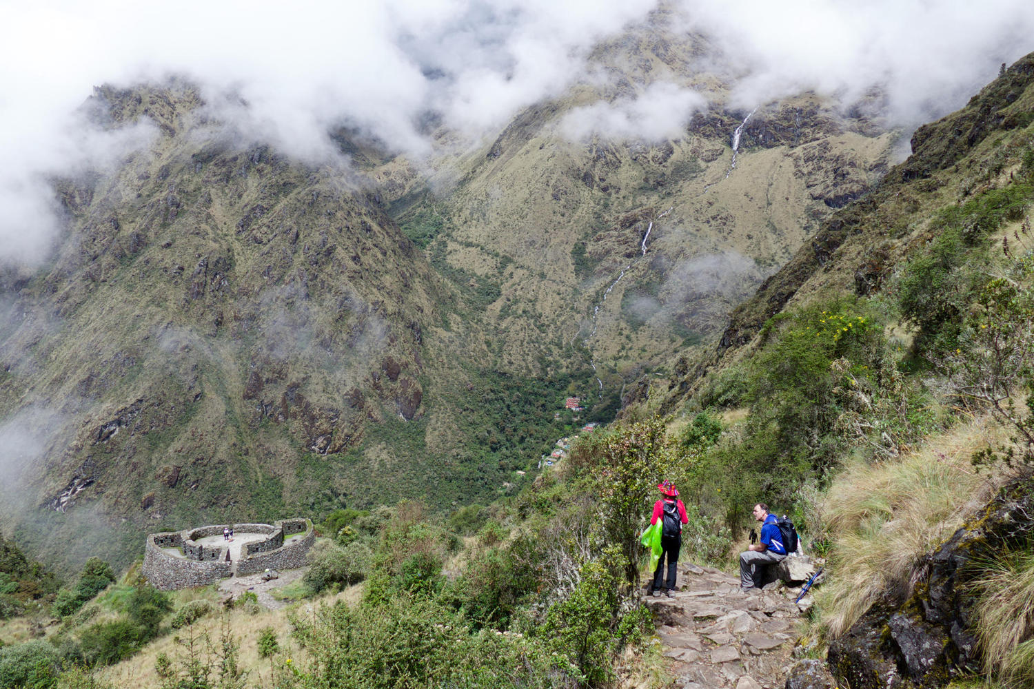 The small site of Runcurakay on Day 3 of the Inca Trail