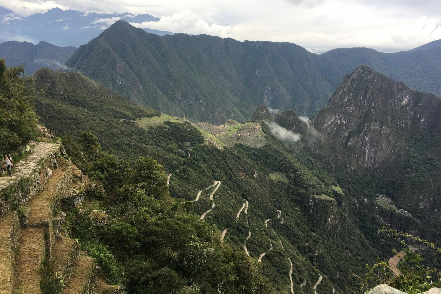 Arriving at Machu Picchu in the late afternoon, hardly another soul in sight