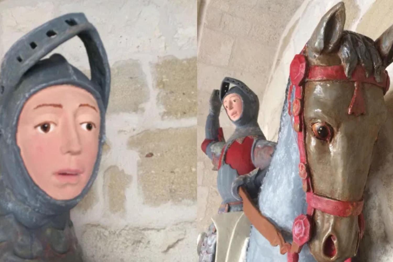 St George statue restoration