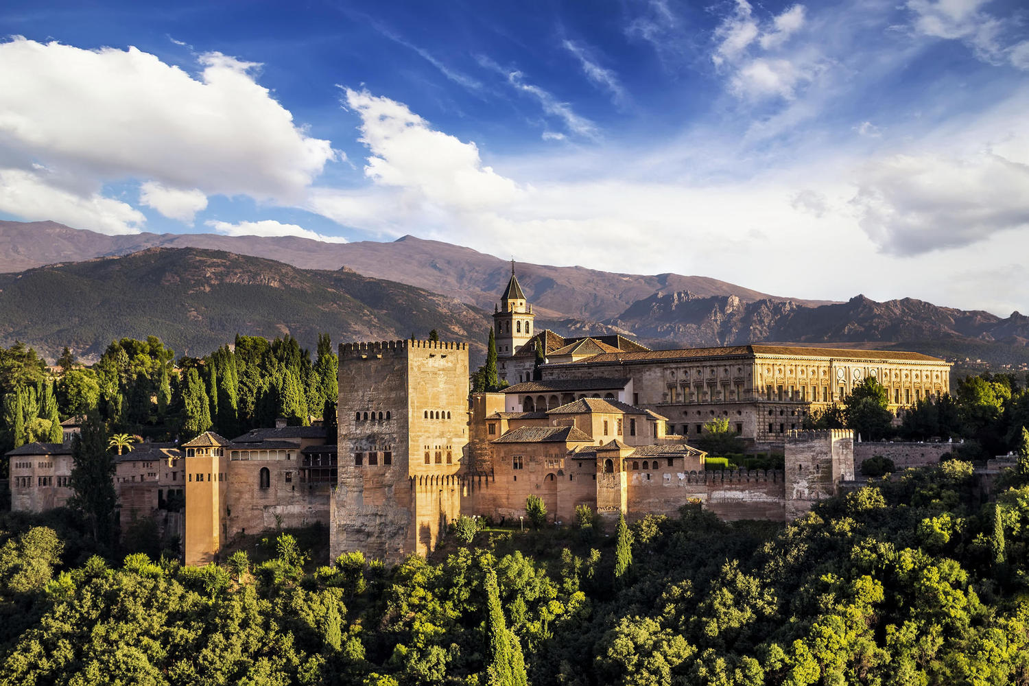Panoramic view of the Alhambra