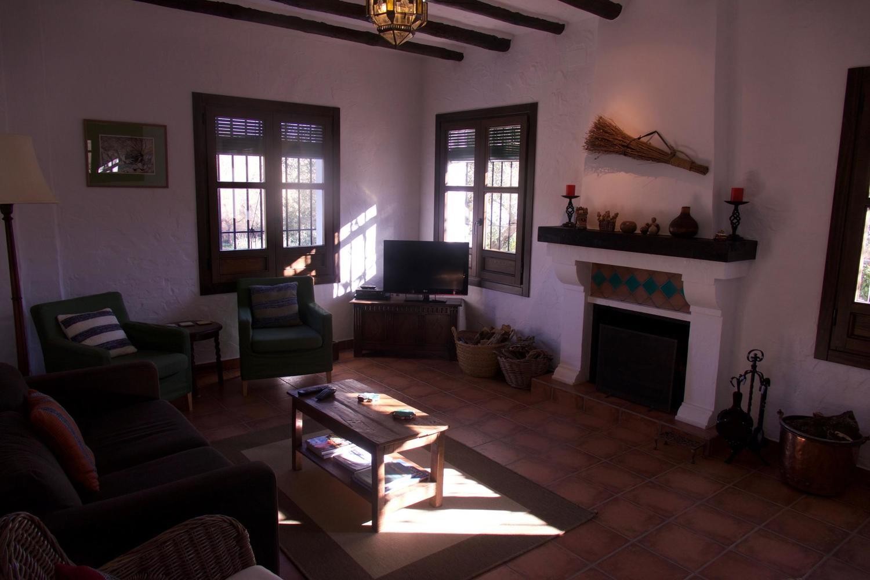 Living room of Casa Olea, Sierra Subbetica