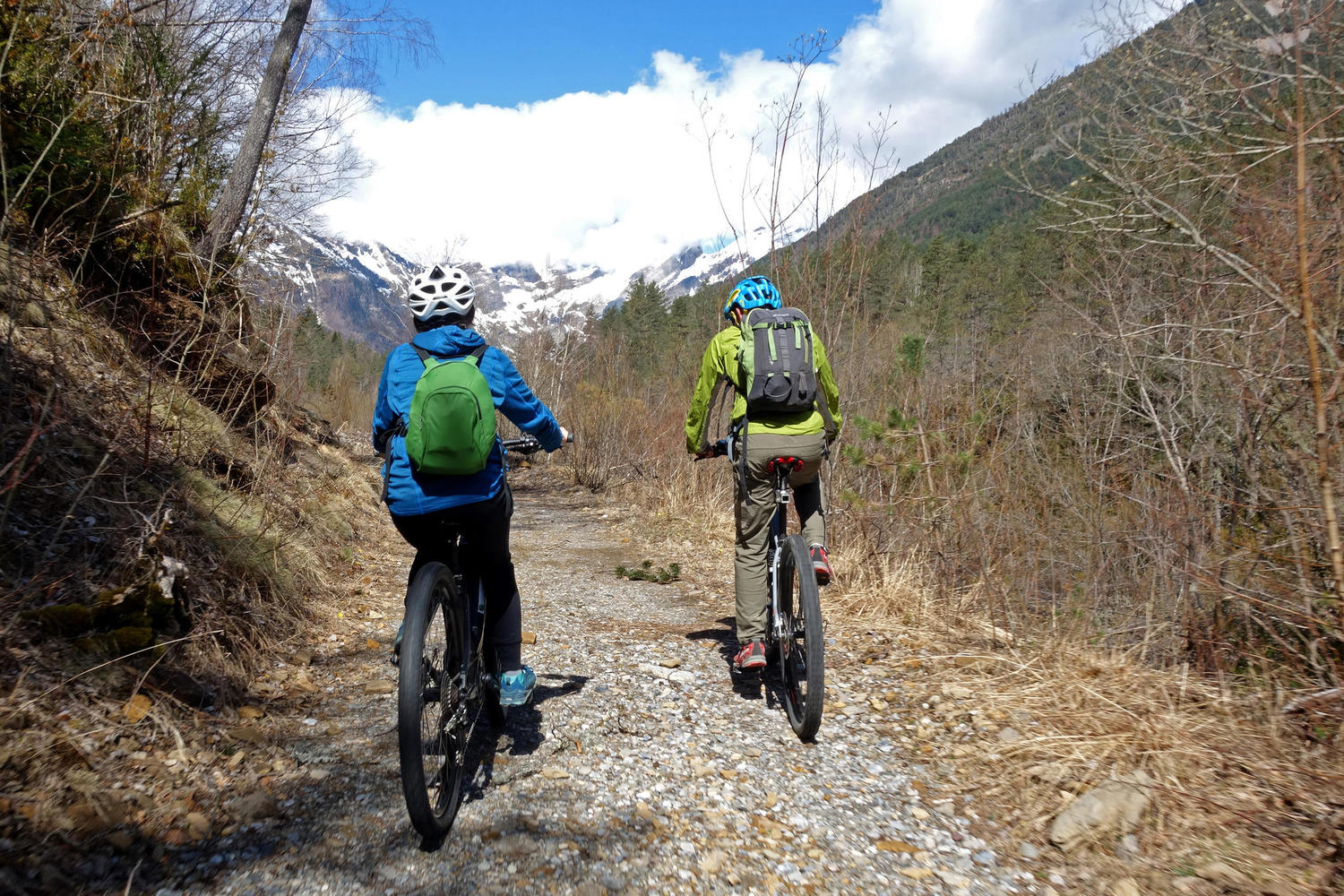 ebike cycling in the Spanish Pyrenees