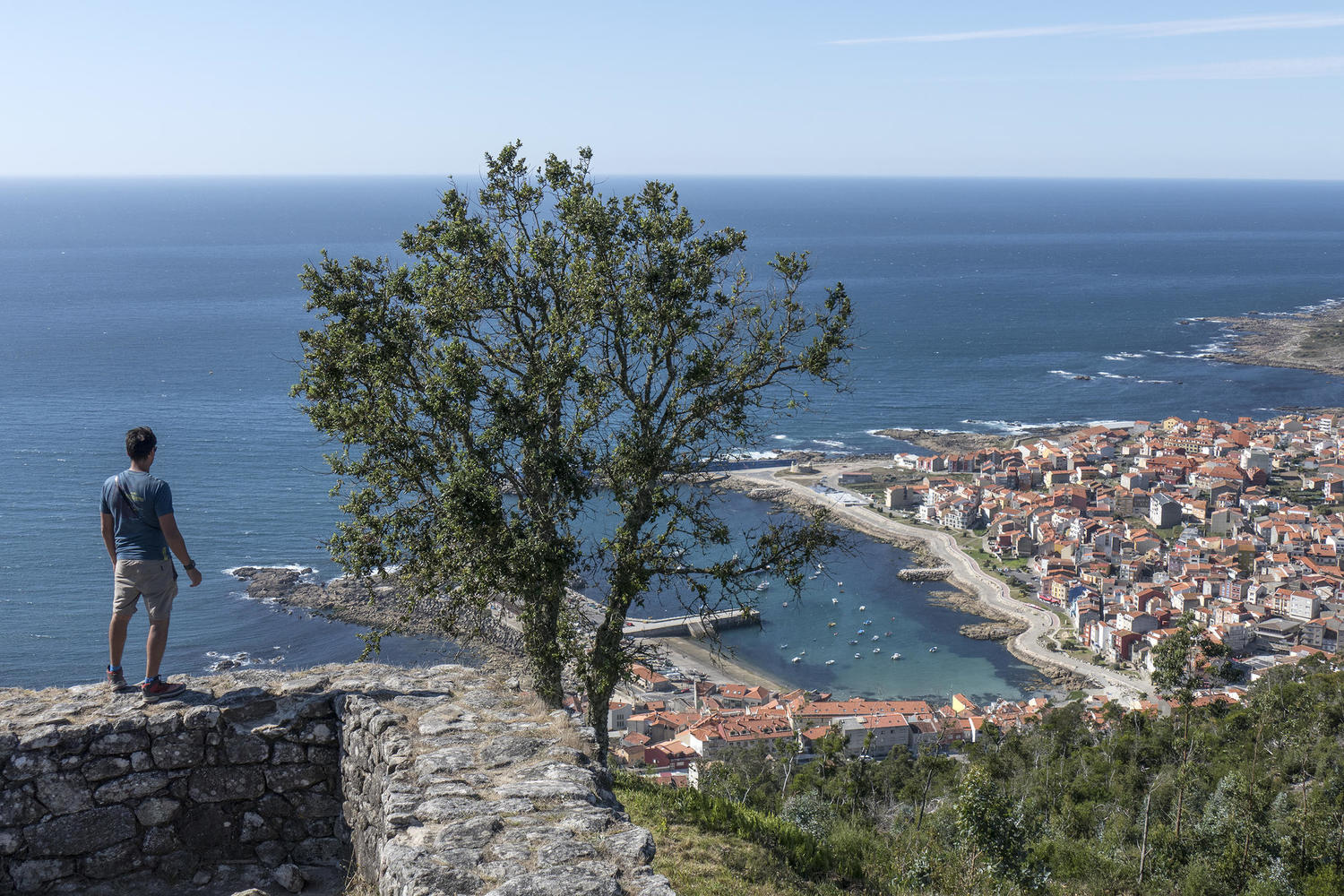 A Guarda and the Atlantic from the Iron Age ruins of Santa Tecla