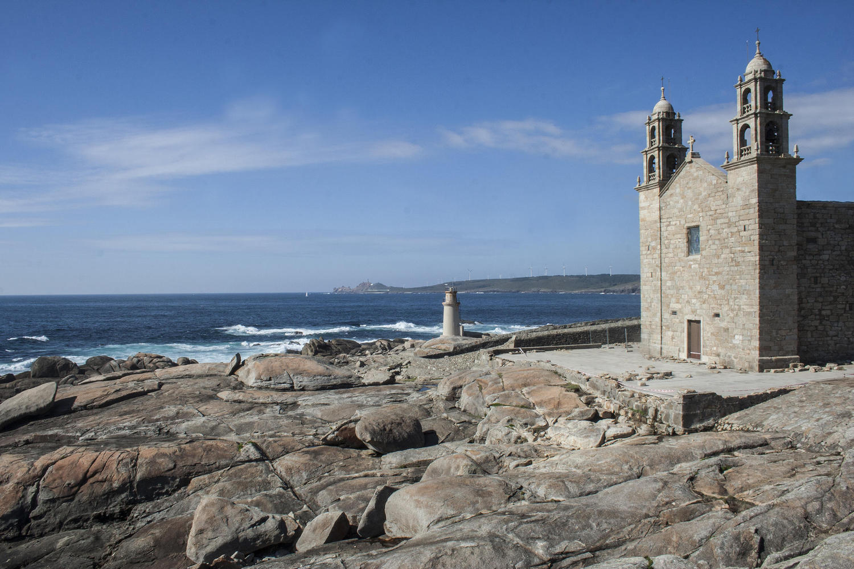 The Virxe da barca sanctuary in the Death Coast of Galicia