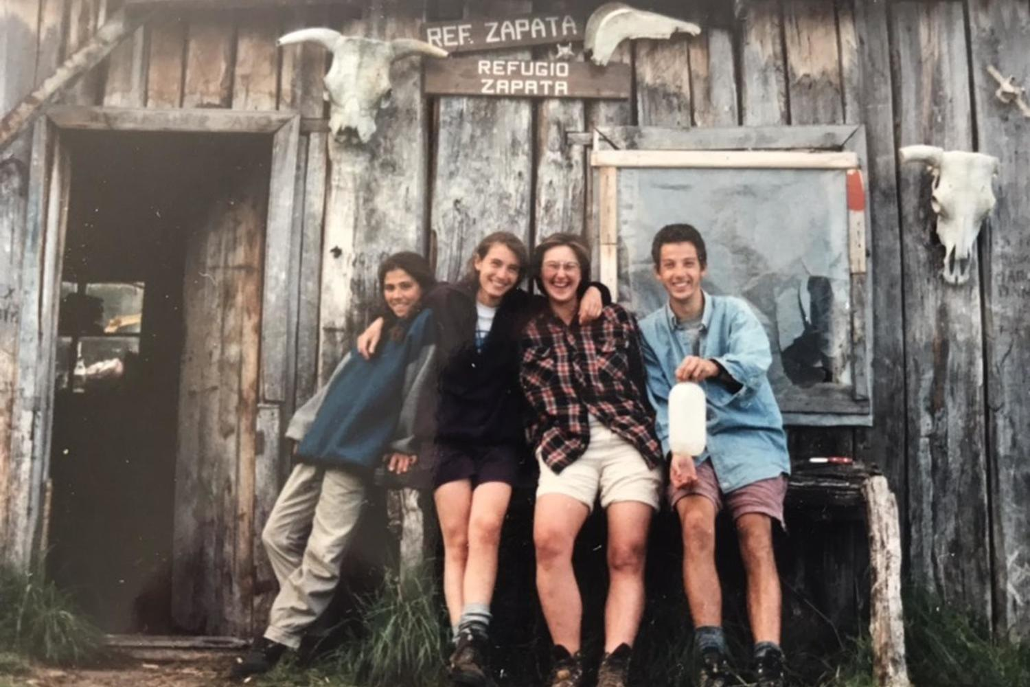 Pura co-founder Thomas Power making friends in Torres del Paine in 1995