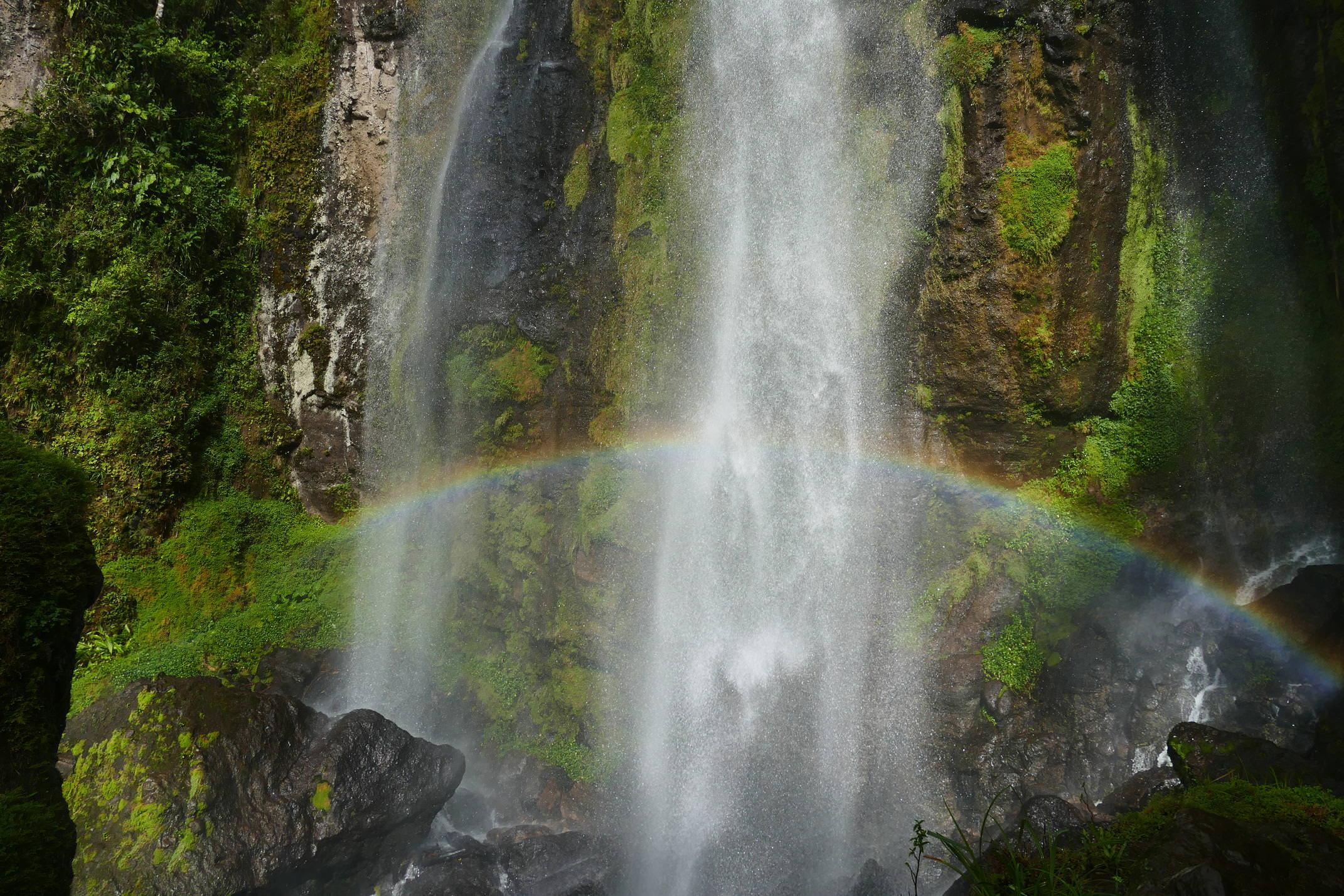 Nicaragua jinotega penas blancas cascada arcoiris copyright pura emma bye