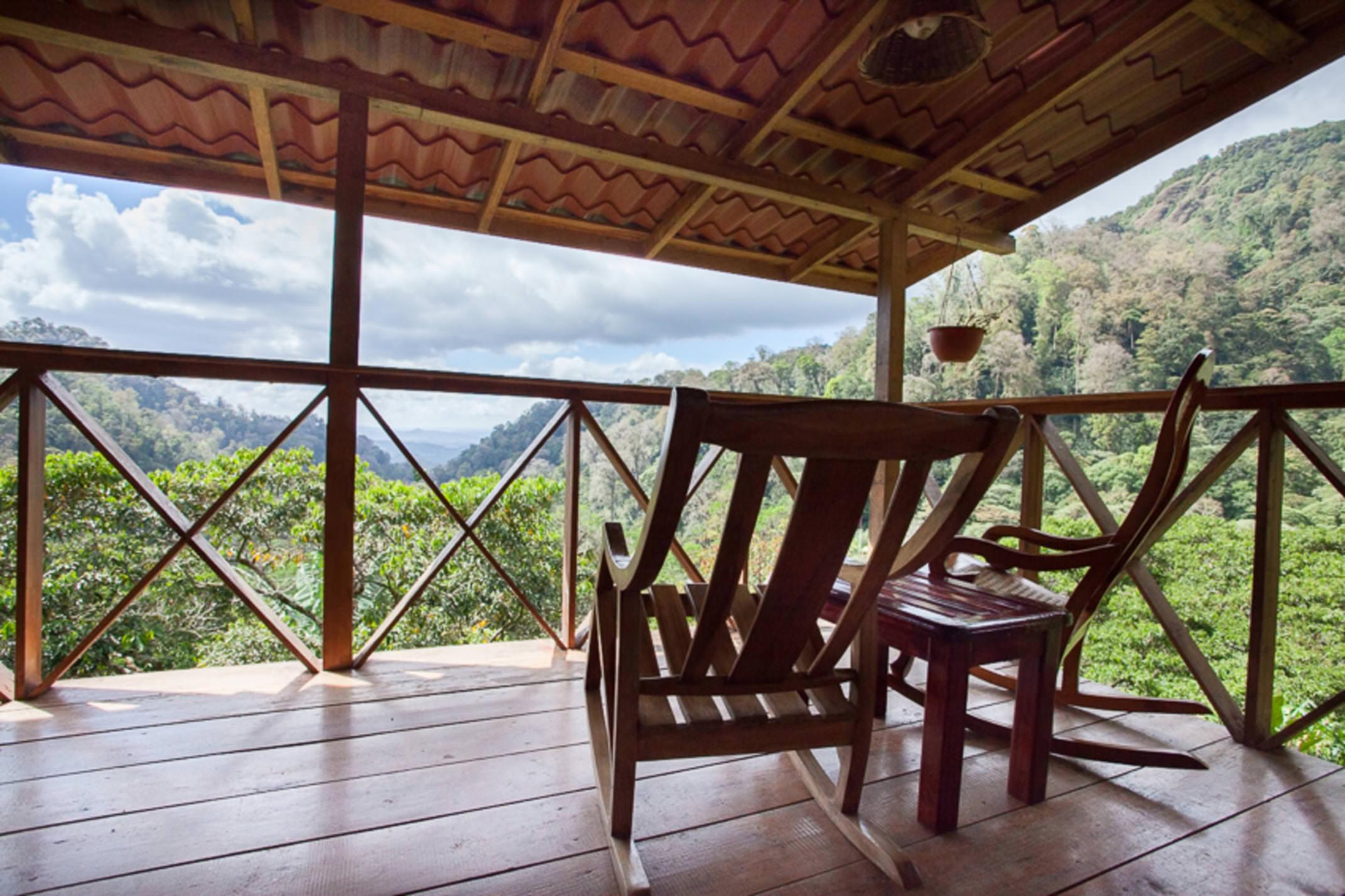 Nicaragua north jinotega la bastilla ecolodge veranda