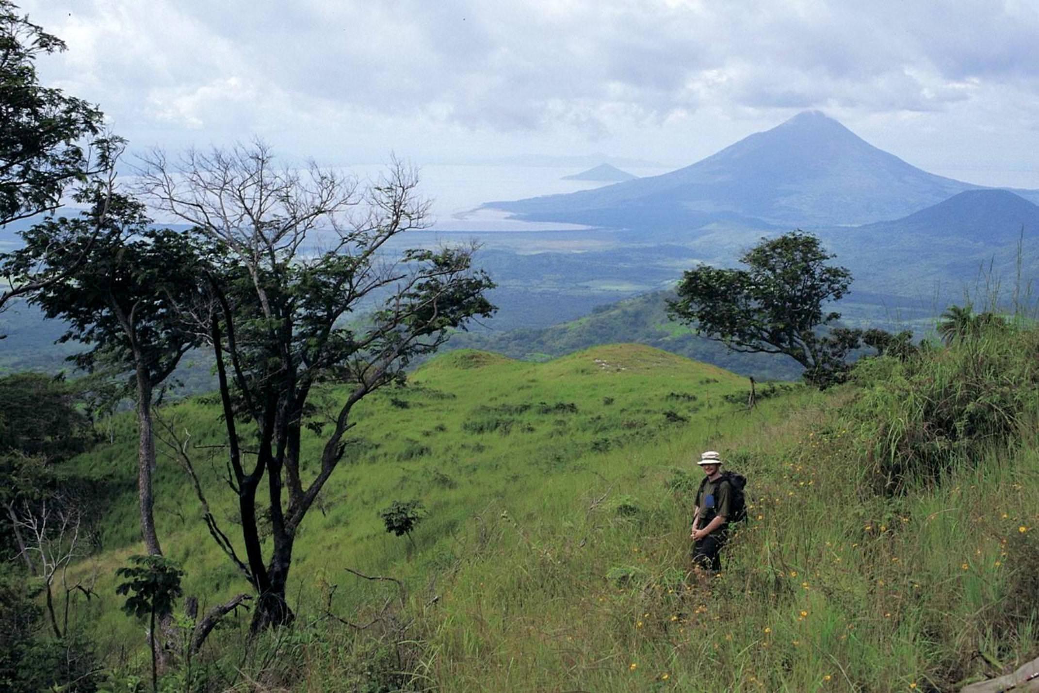 Nicaragua ometepe hiking slope of volcano
