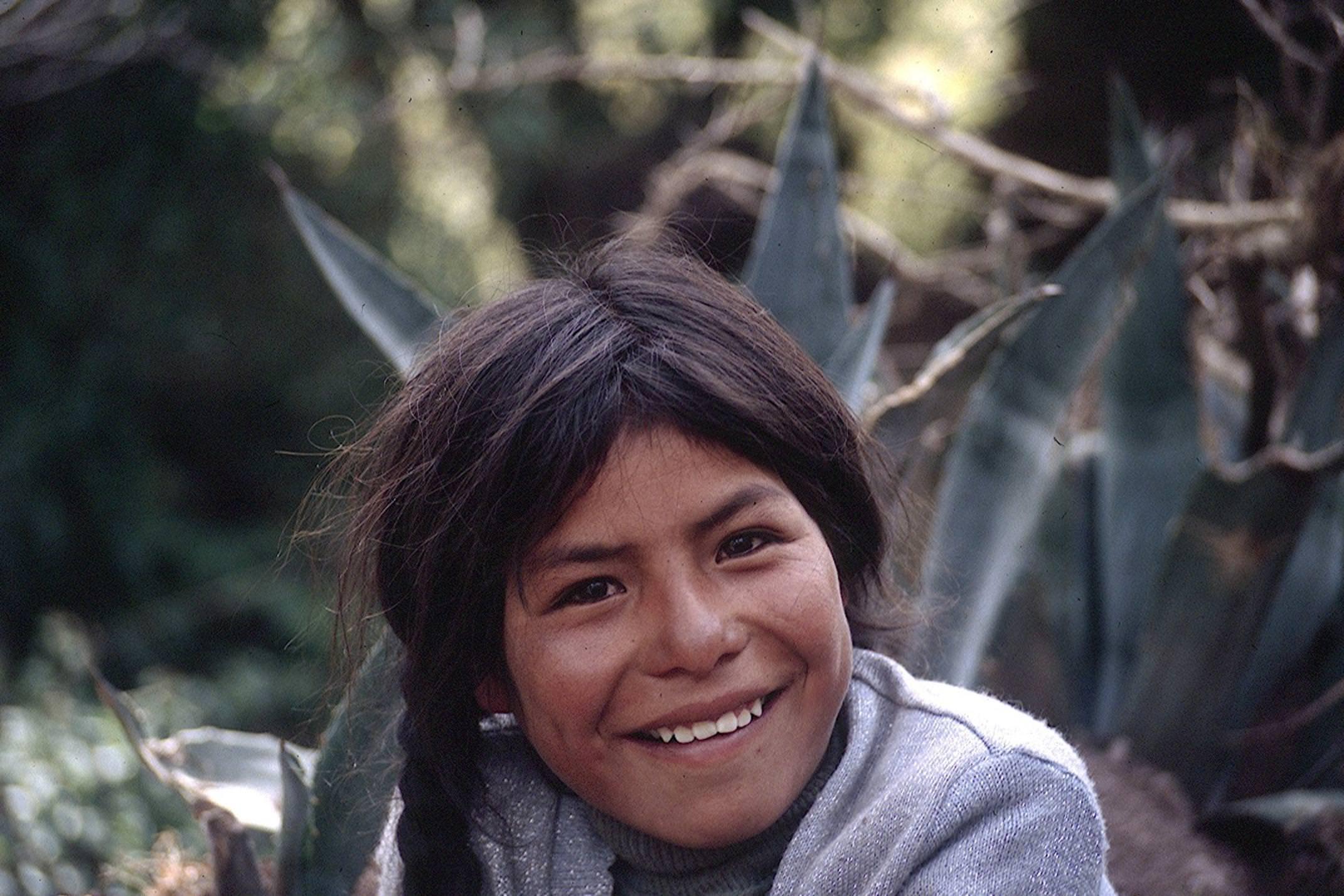 Peru amazon girl smiling