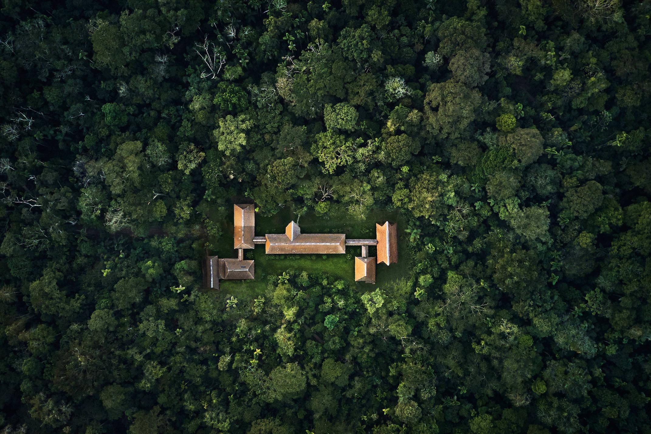 Peru amazon tambopata research center TRC from sky