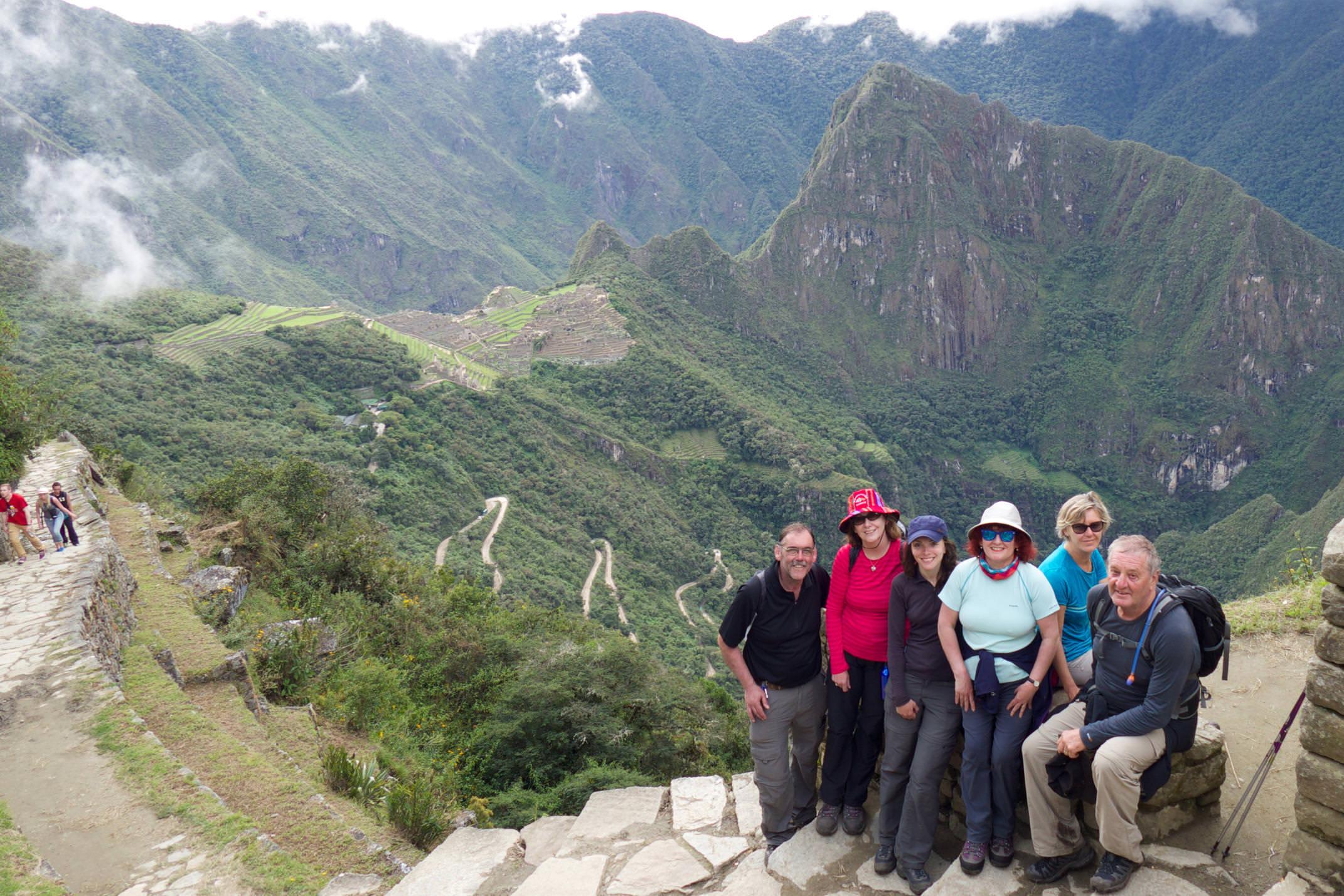 Peru machu picchu sun gate group