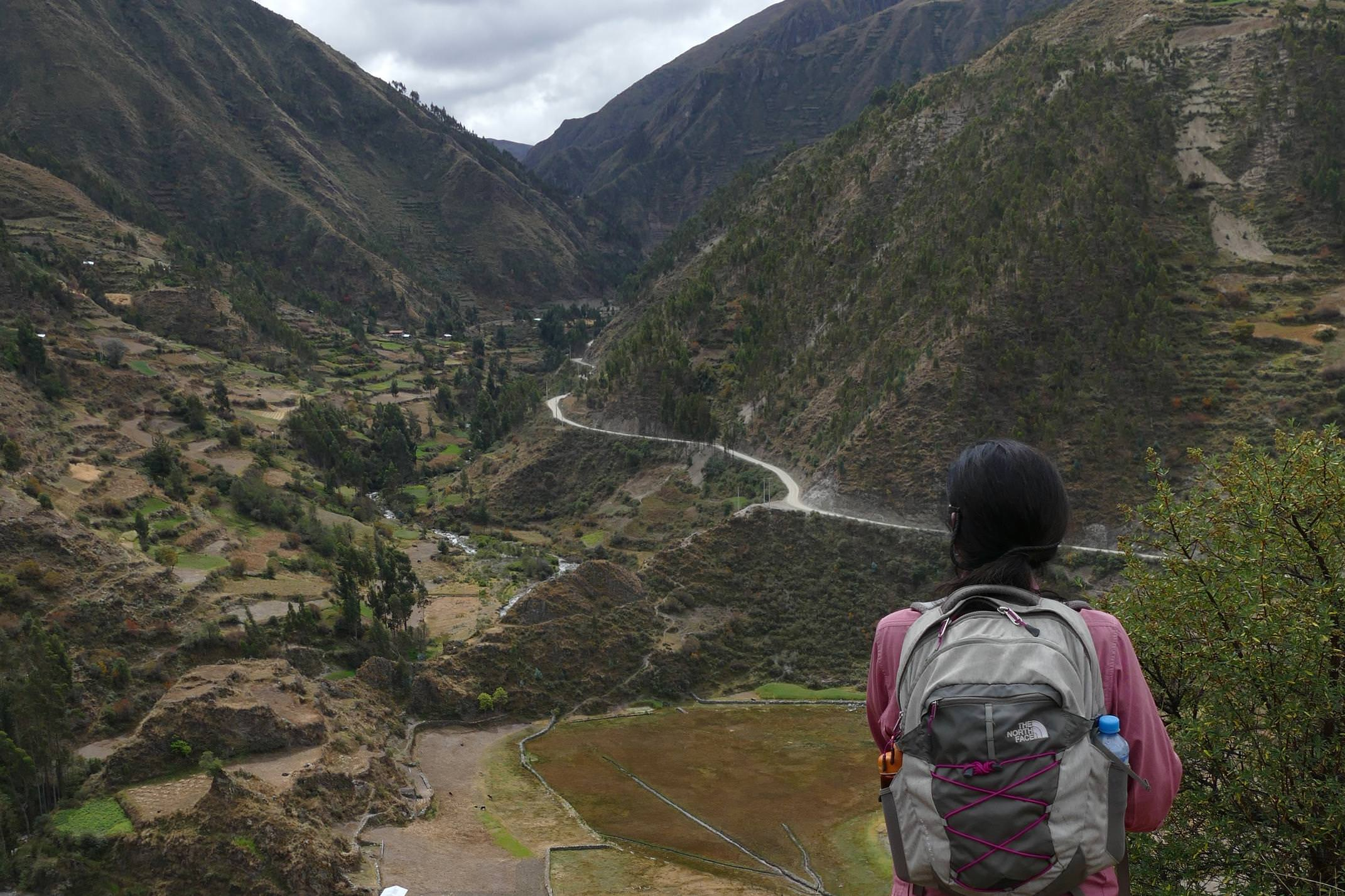 Peru sacred valley walking near huilloq c sarah peru