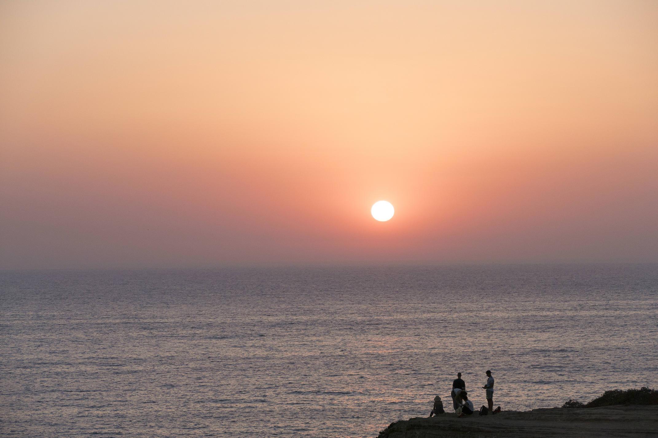 Portugal zambujeira beach sunset