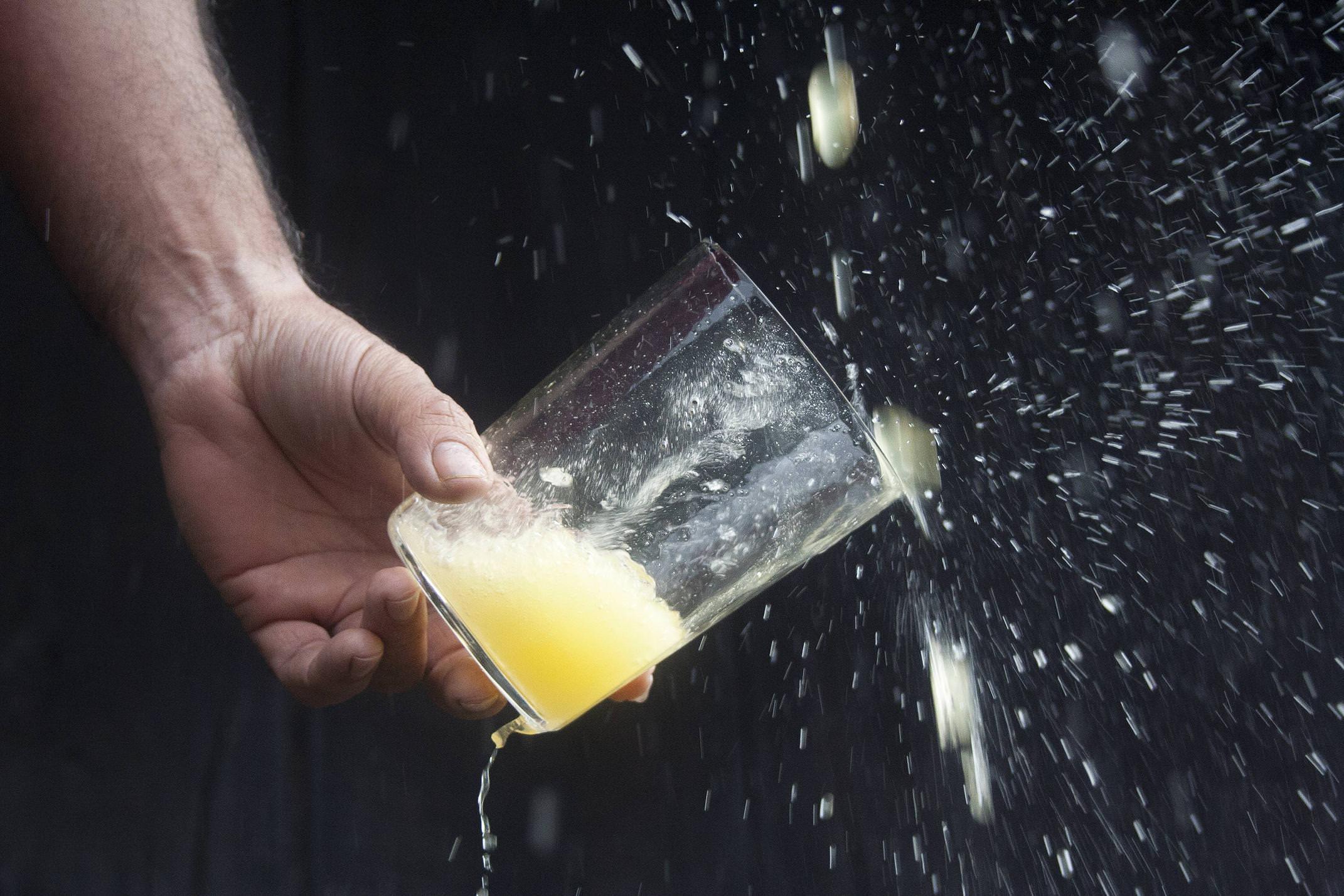 Spain asturias picos cider pouring