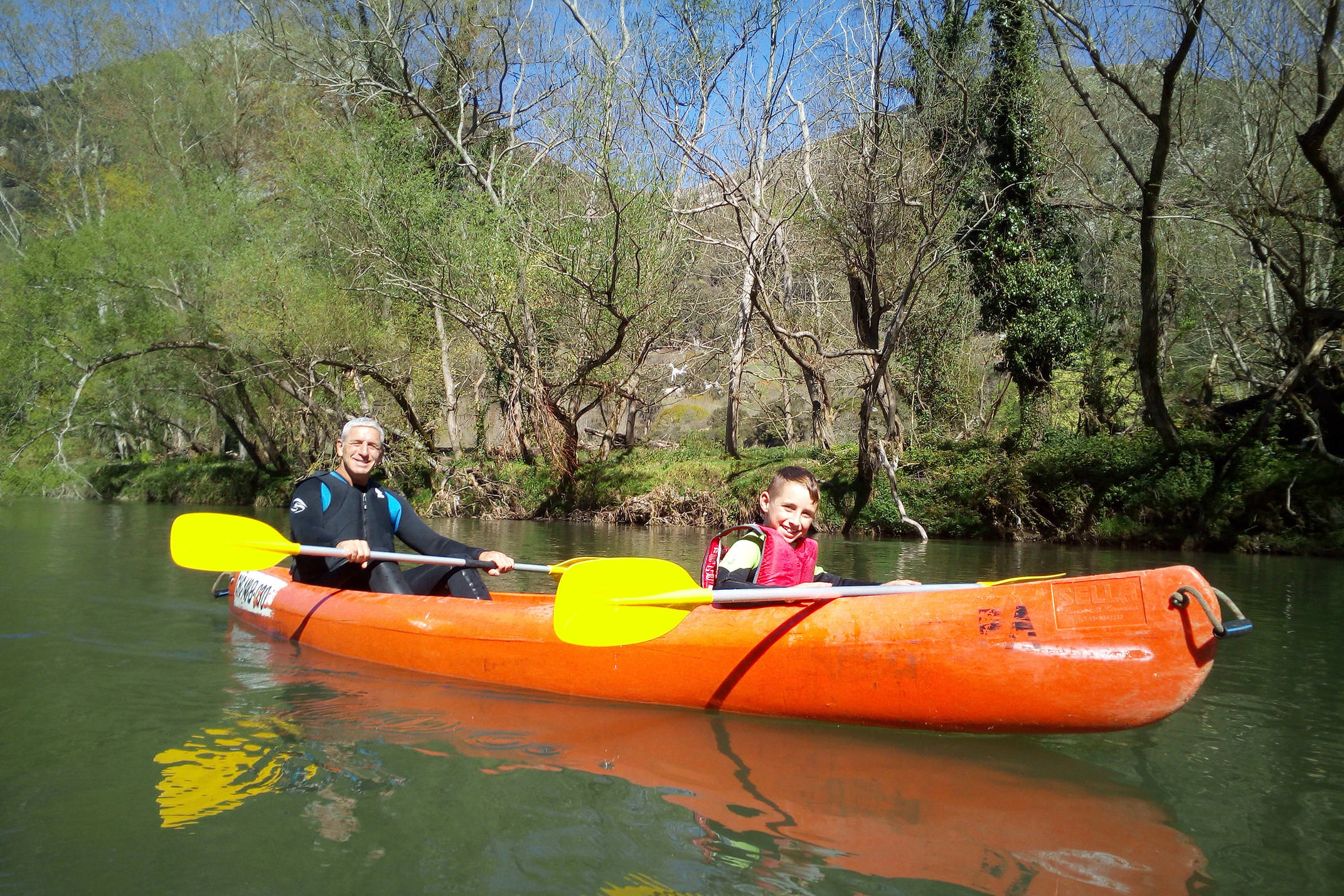 Spain asturias picos deva river family canoeing c diego