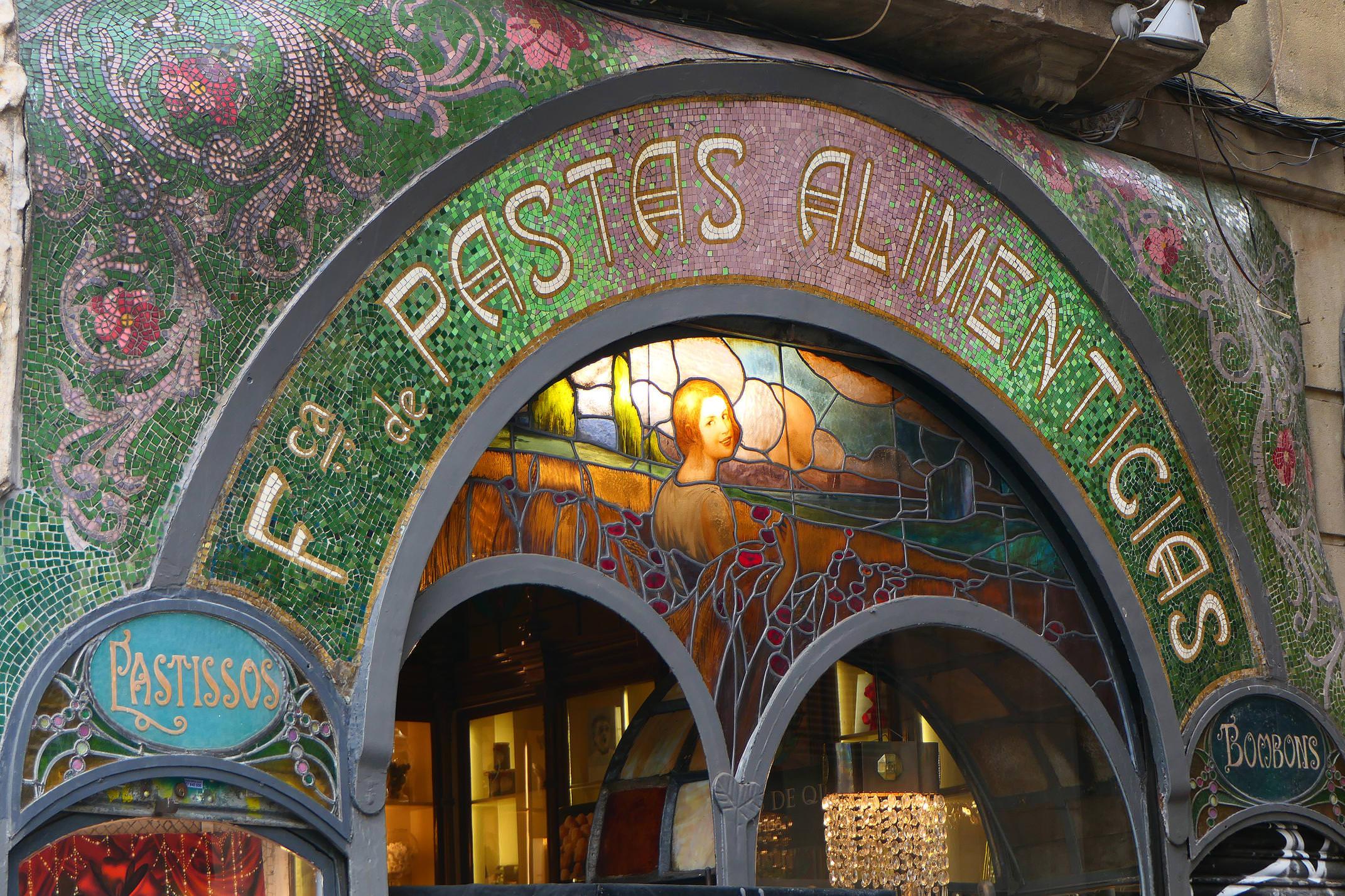 Spain barcelona art noveau ramblas c diego