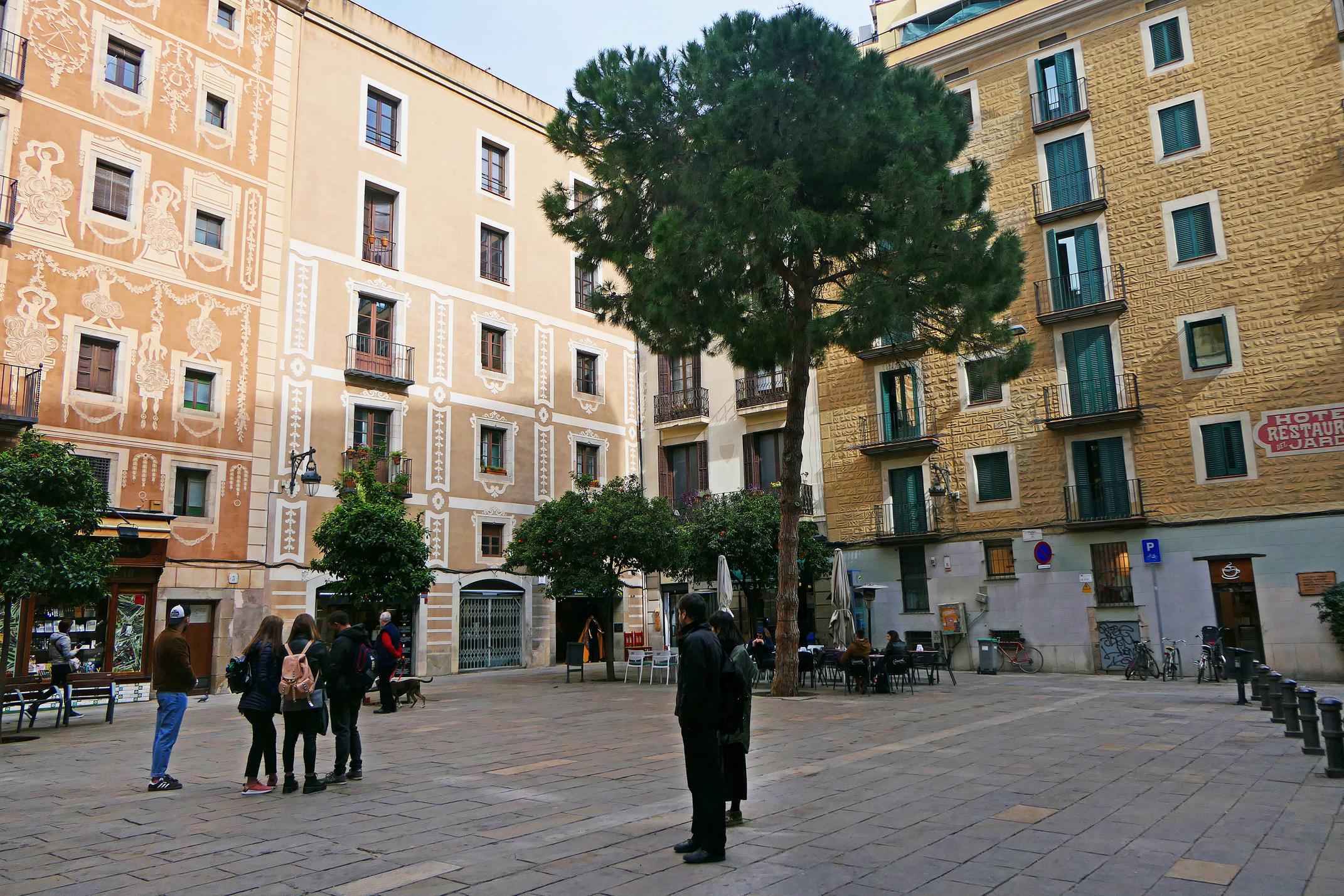 Spain barcelona gothic plaça del pi c diego