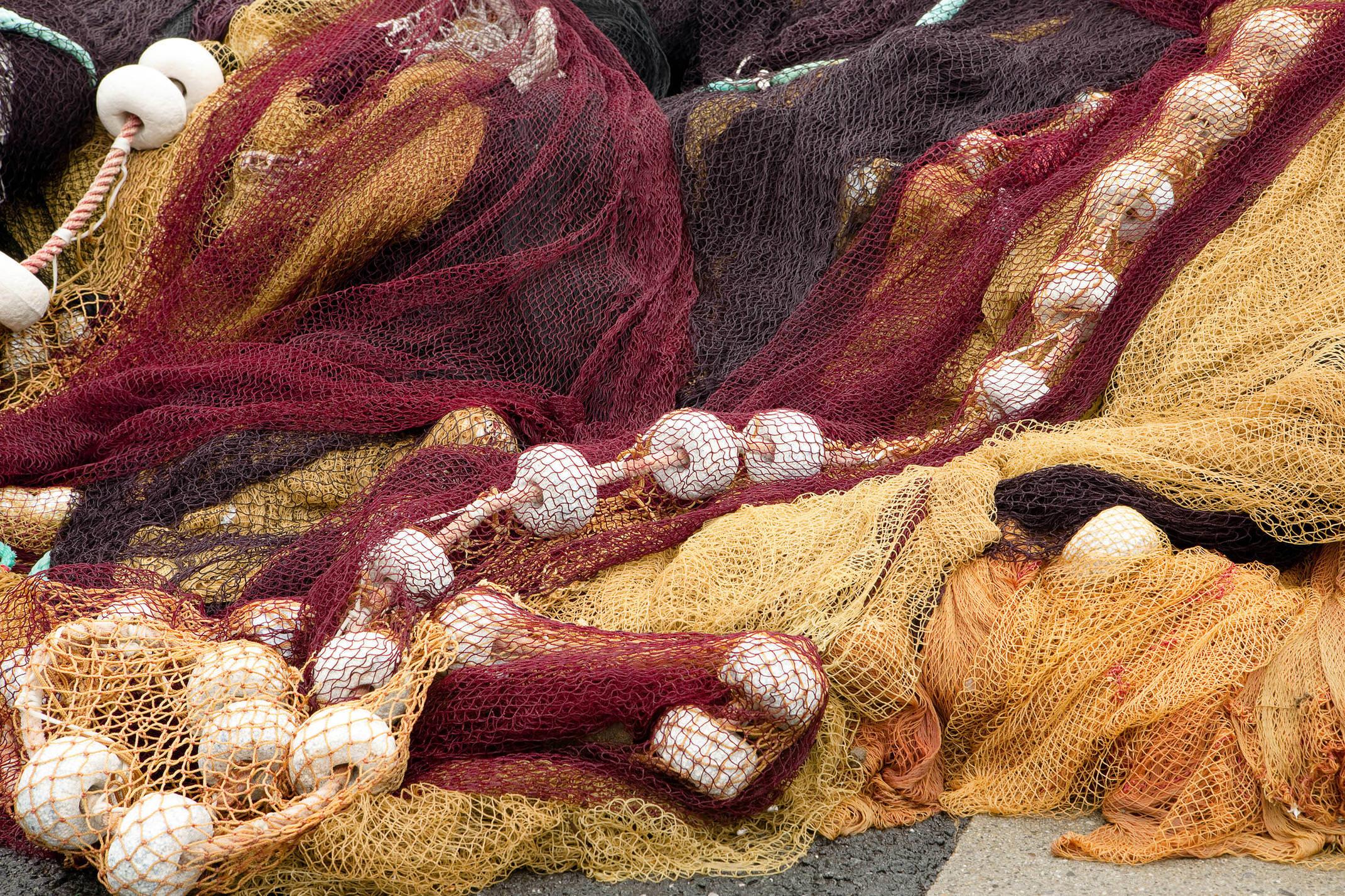 Spain basque country fishing nets c shutter