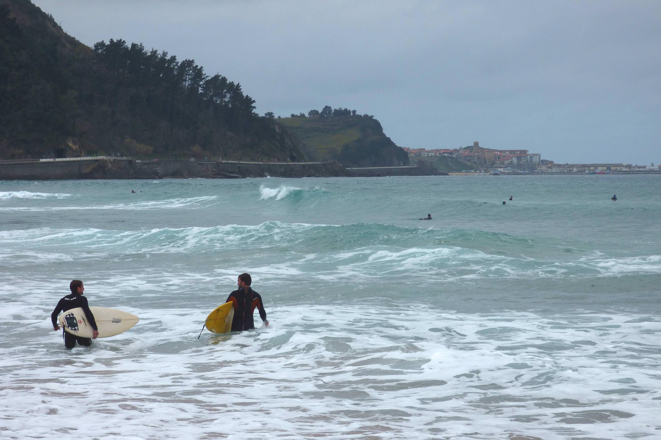 Spain basque country inn to inn zarautz surfers coastal path to getaria