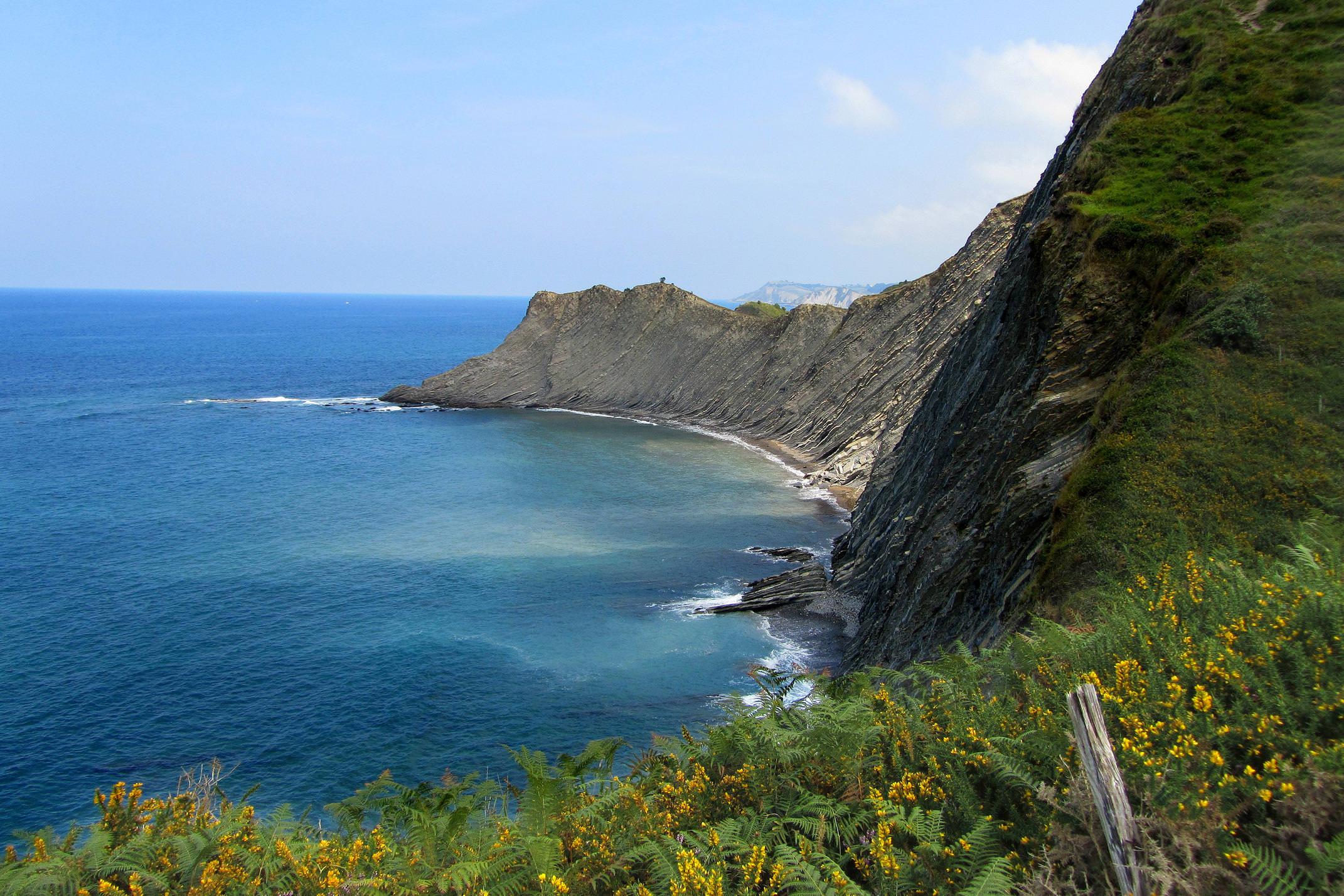 Spain basque inn to inn camino del norte zumaia cliffs 4