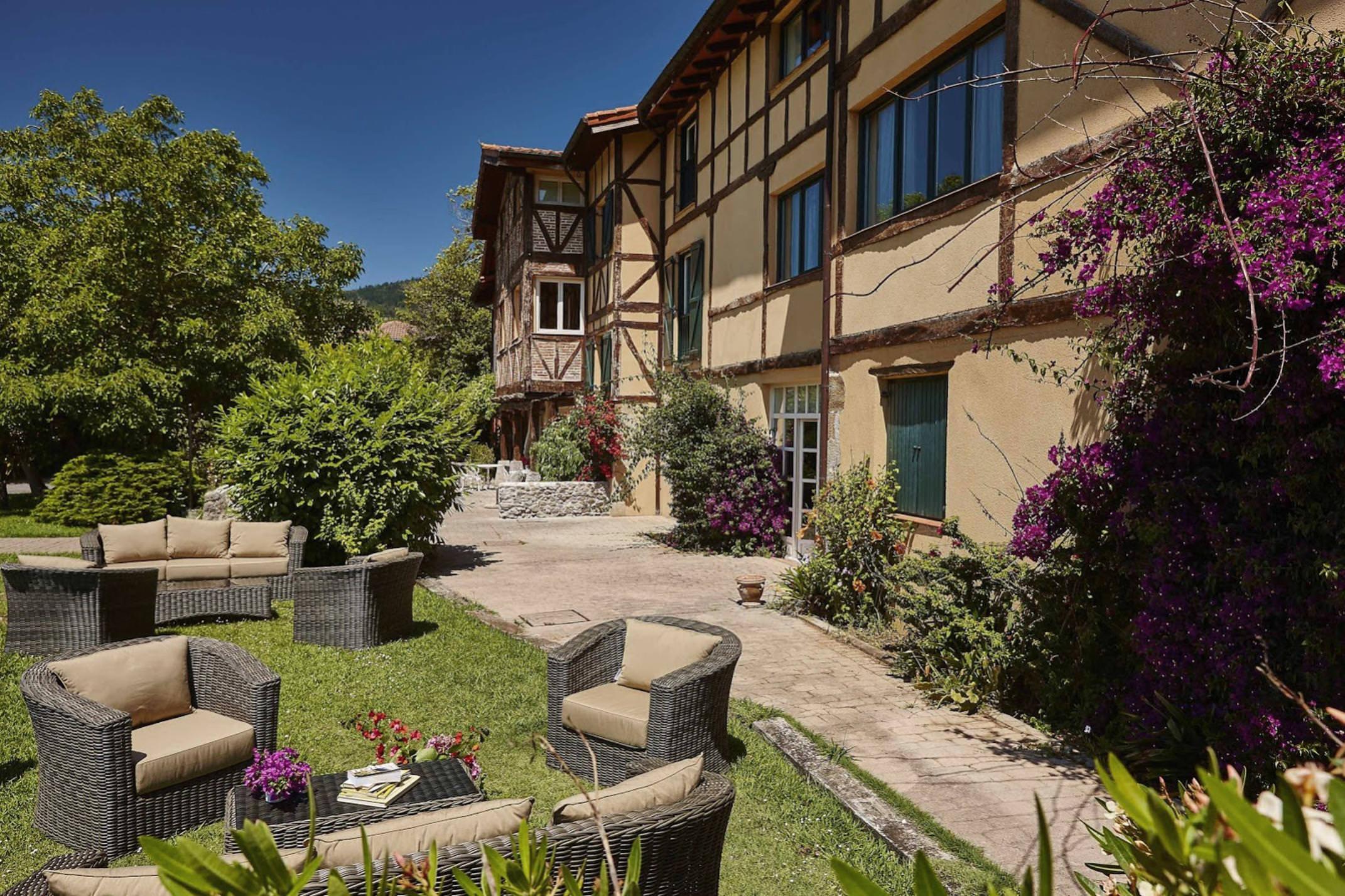 Spain basque vizcaya lekeitio zubieta hotel garden c zubieta