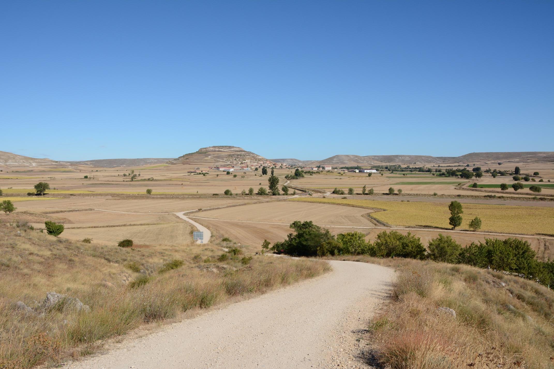 Spain camino de santiago walking from castrojeriz