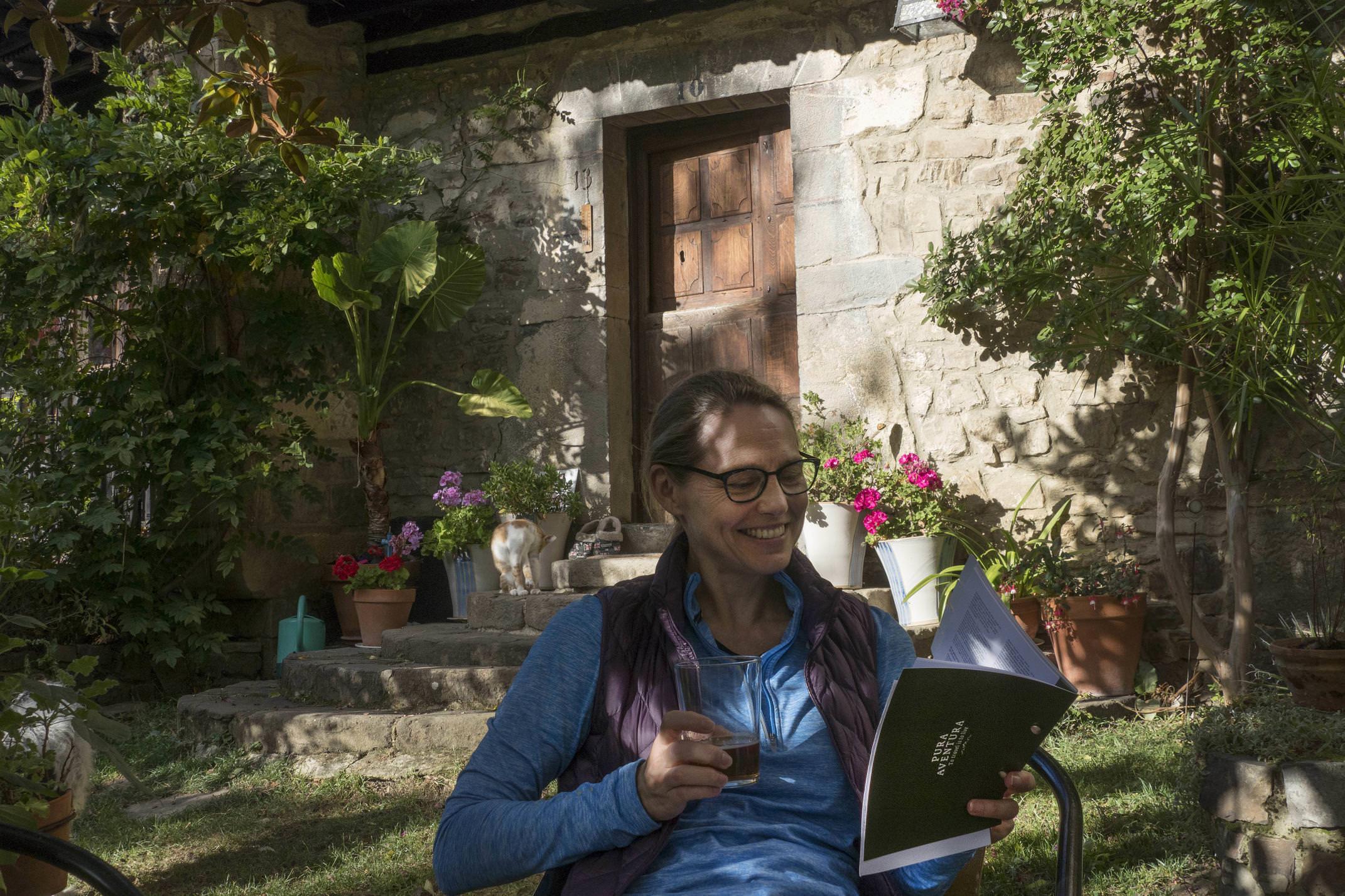 Spain cantabria picos de europa inn to inn tollo posada garden pura info