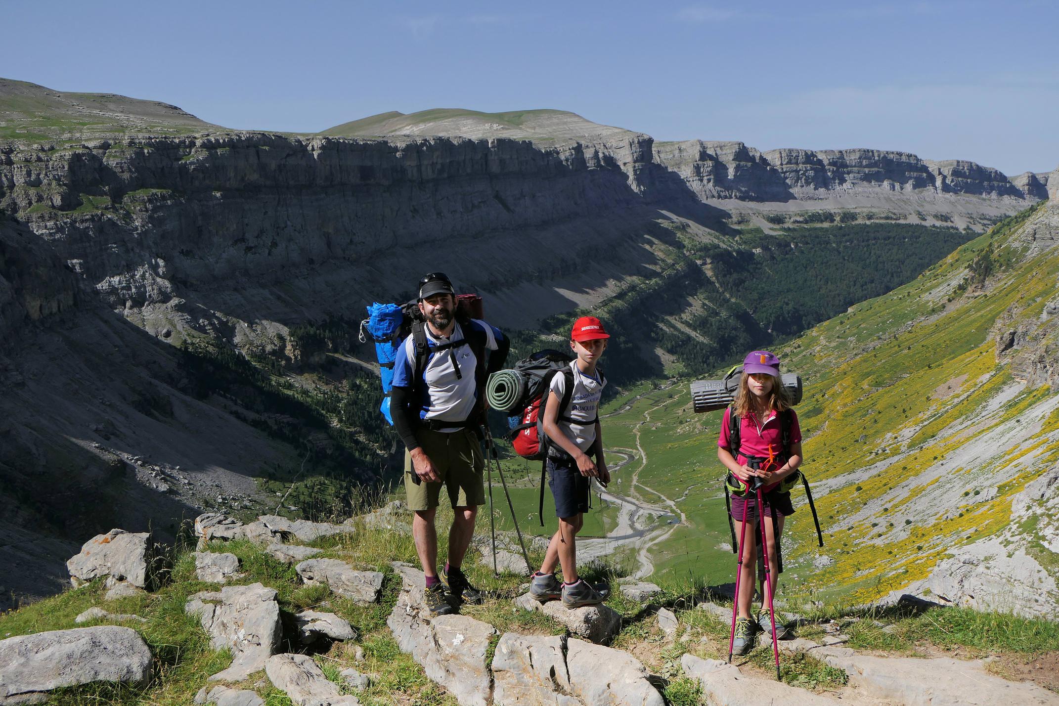 Spain huesca aragon pyrenees ordesa kid 2 family hiker upper valley monte perdido israel family c diego