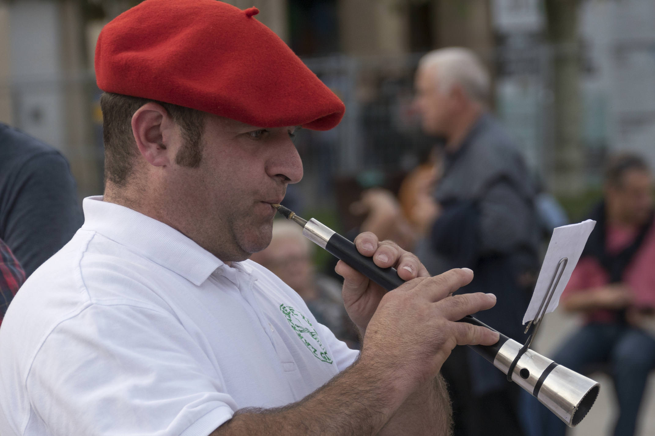 Spain navarre basque pamplona musician traditional c diego