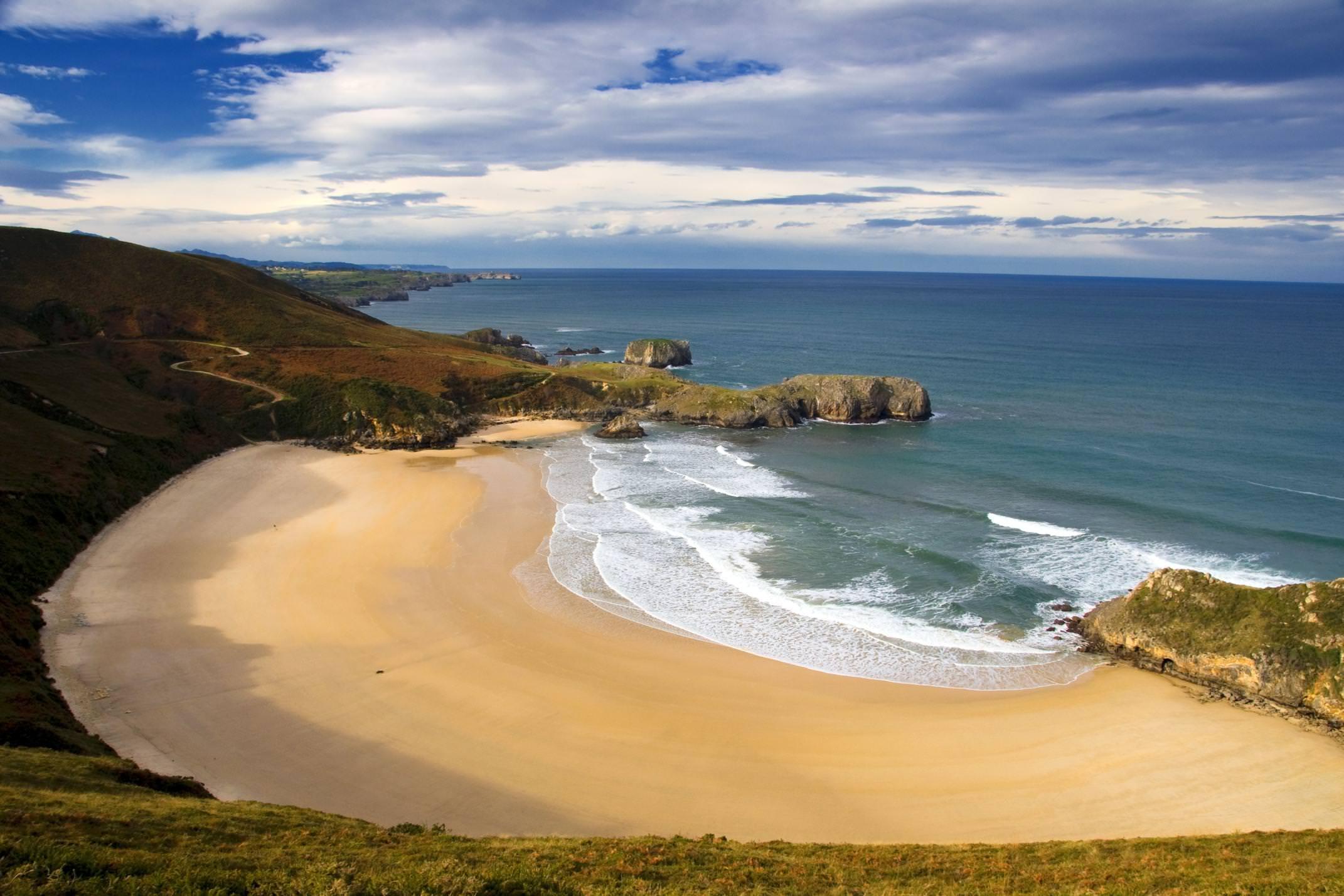 Spain picos de europa beach torimbia llanes