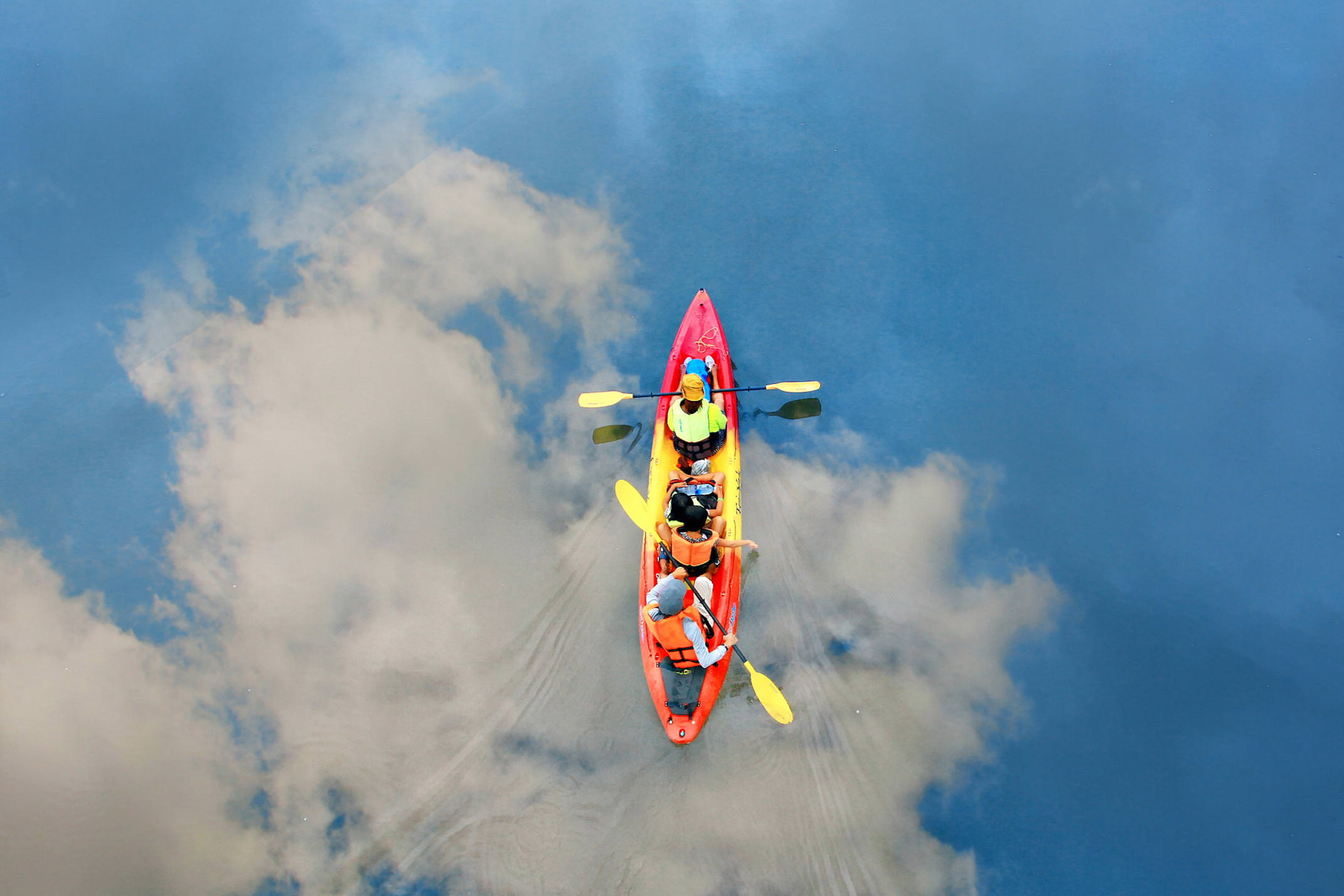 Spain picos de europa canoeing overhead photo