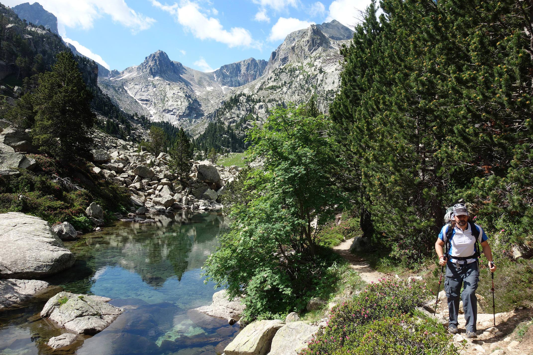 Spain pyrenees catalonia aiguestortes summer lake hiking c diego pura