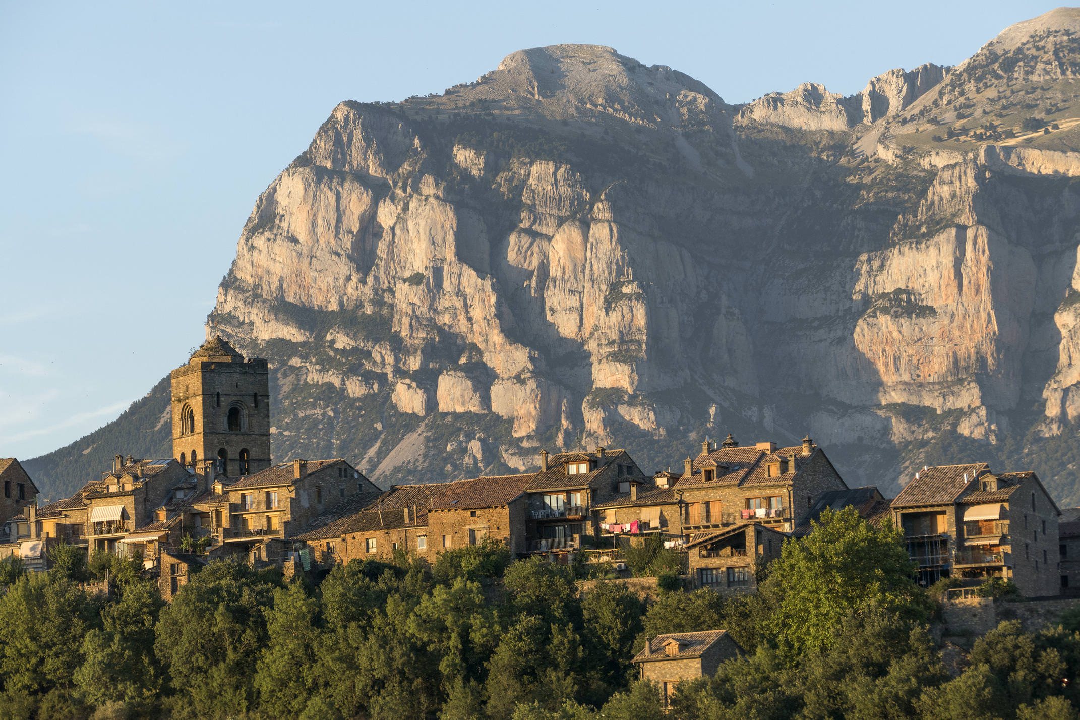 Spain pyrenees ordesa ainsa sunset