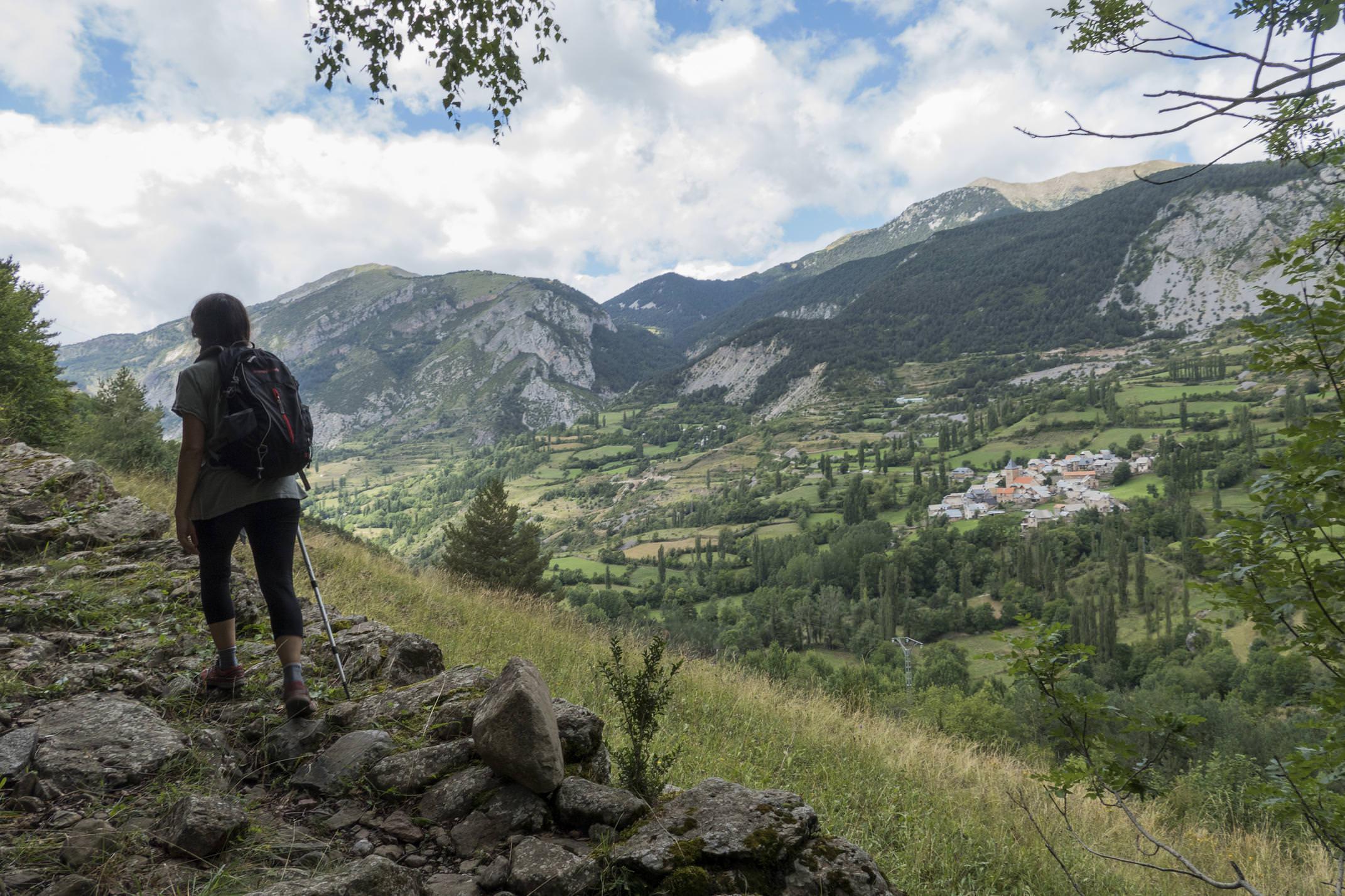 Spain pyrenees ordesa gistain leaving serveto behind